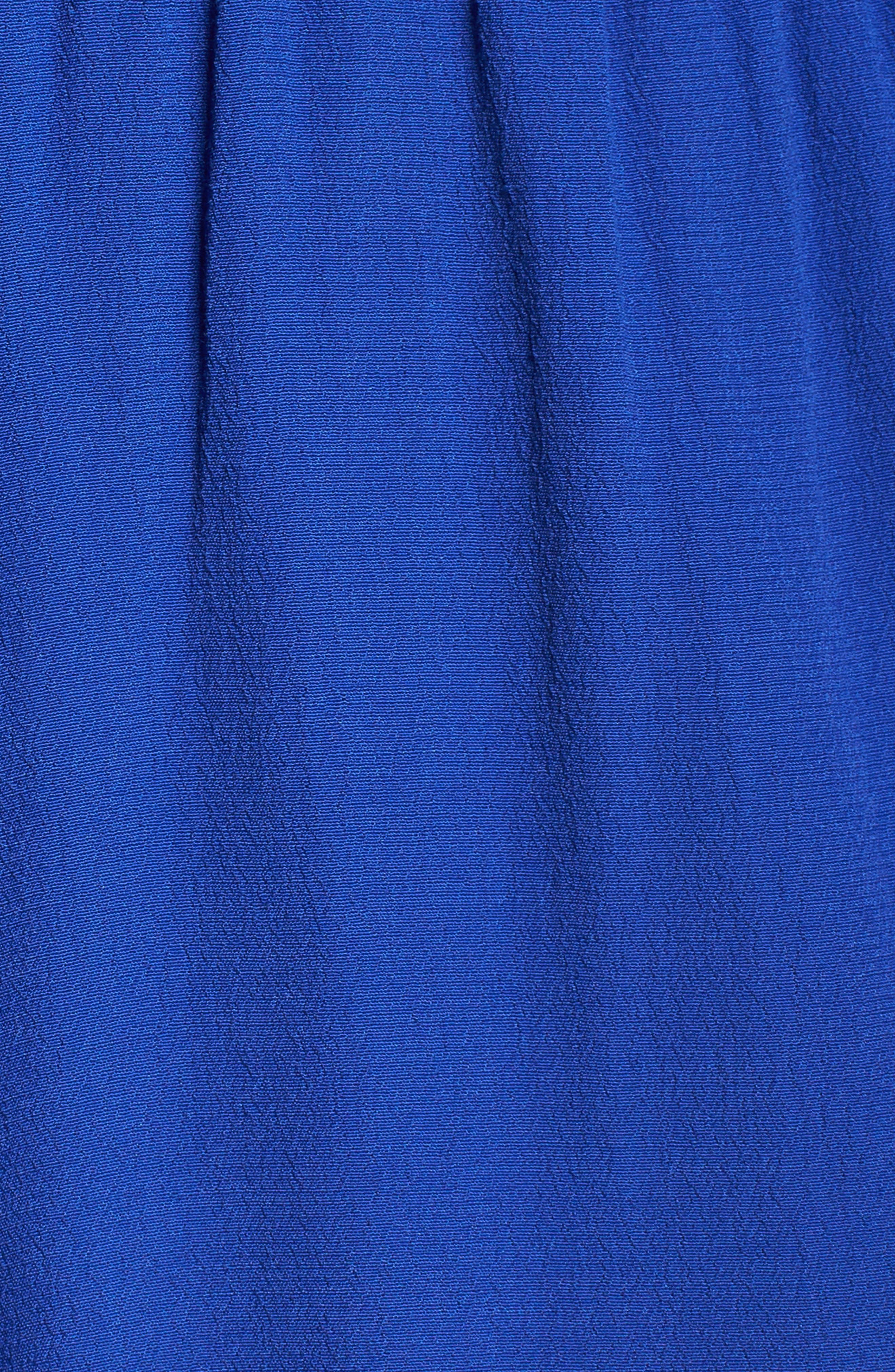 Ruffle Halter Jumpsuit,                             Alternate thumbnail 5, color,                             Royal
