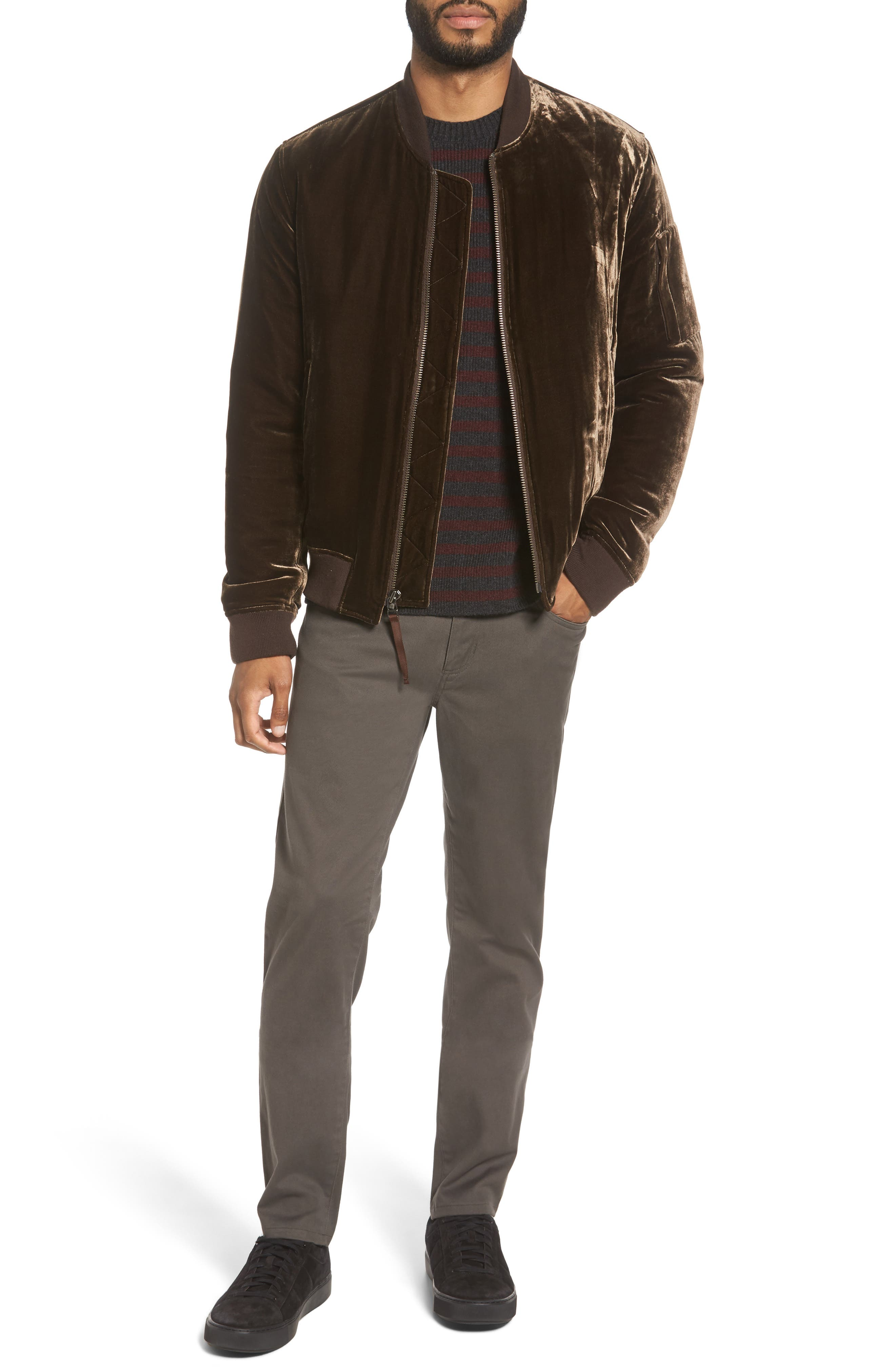 Alternate Image 7  - Vince Stripe Wool & Cashmere Sweater