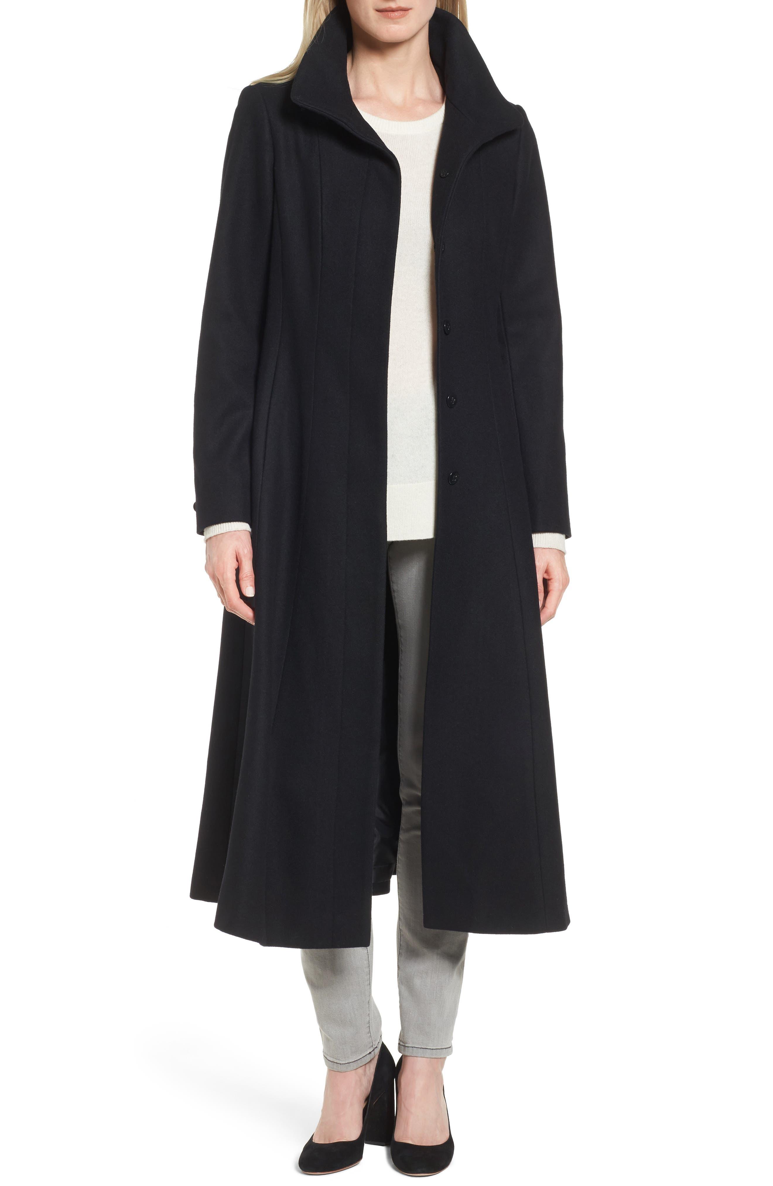 Gallery Full Length Wool Blend Coat (Regular & Petite)