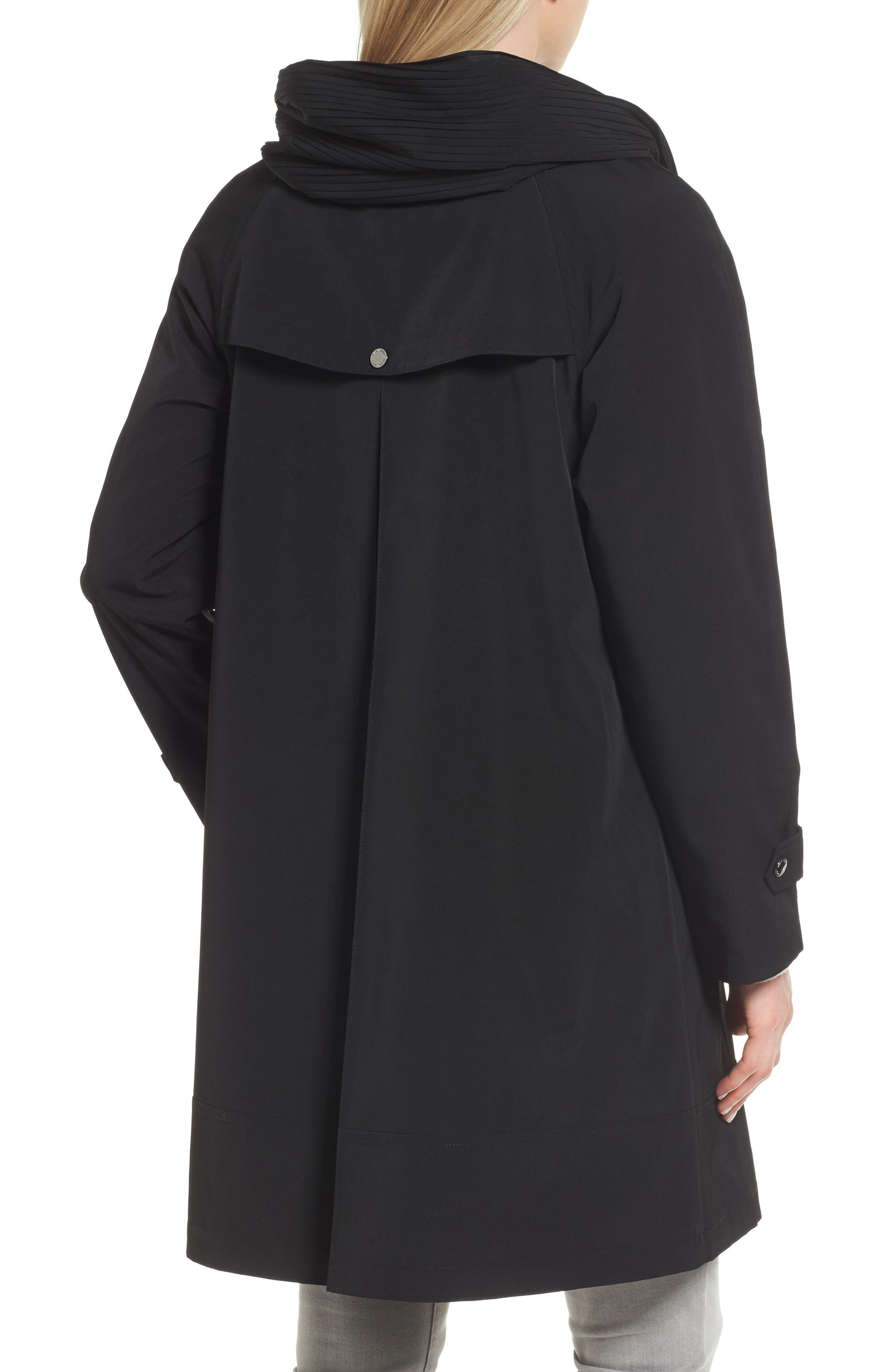 Alternate Image 2  - Gallery A-Line Raincoat (Regular & Petite)