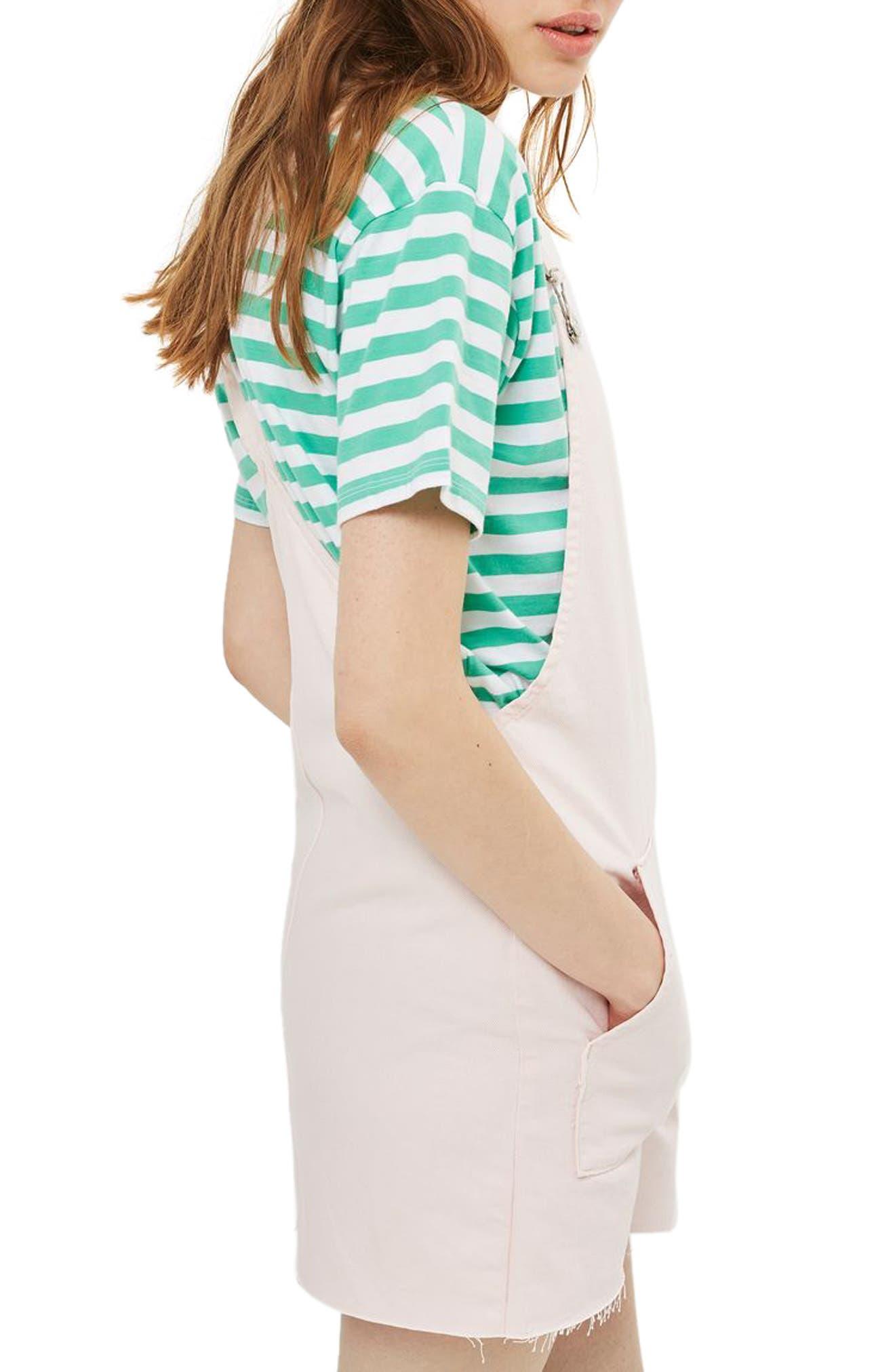 Alternate Image 3  - Topshop Denim Pinafore Dress (Regular & Petite)