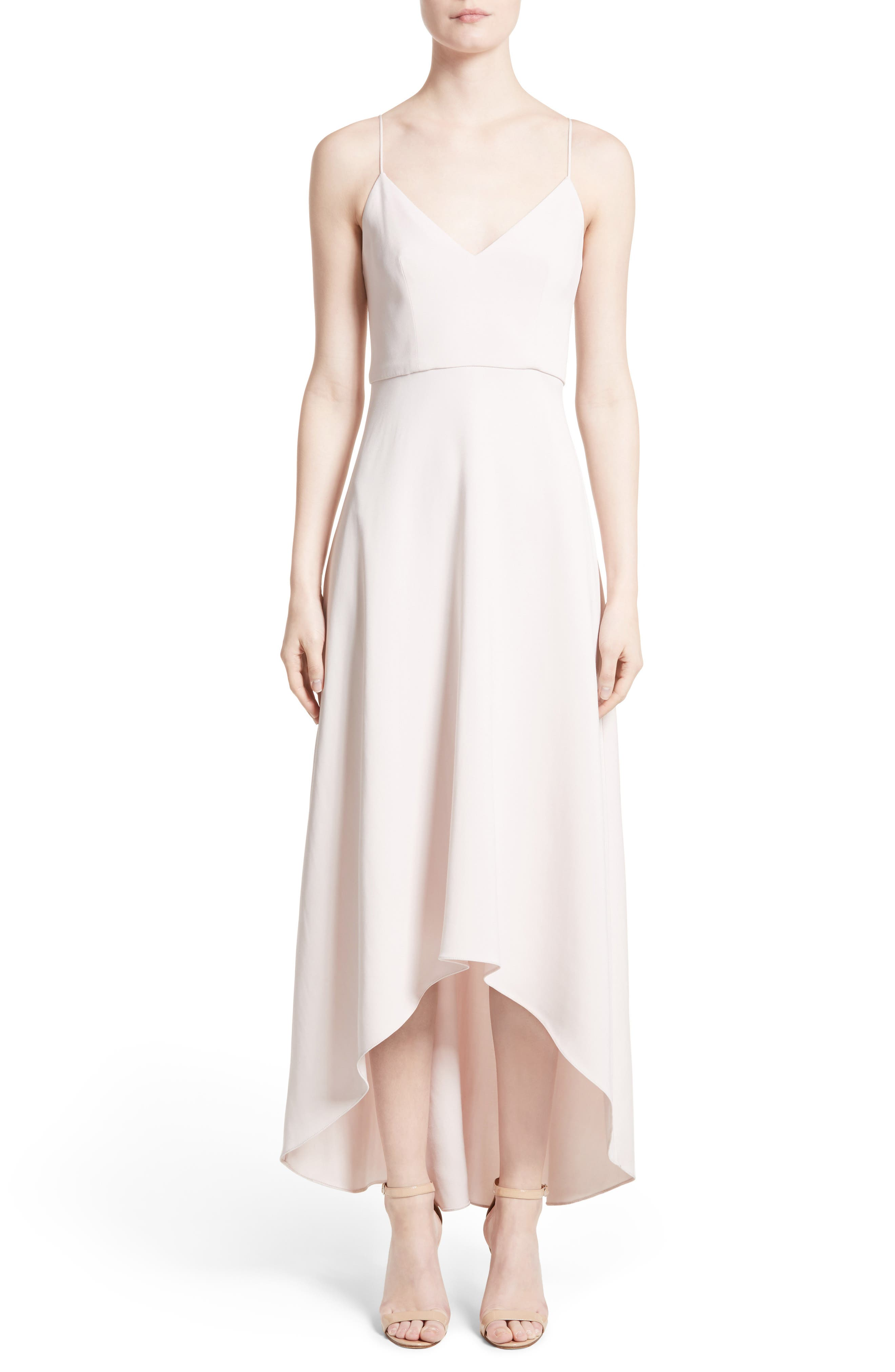 High/Low Dress,                         Main,                         color, Nude