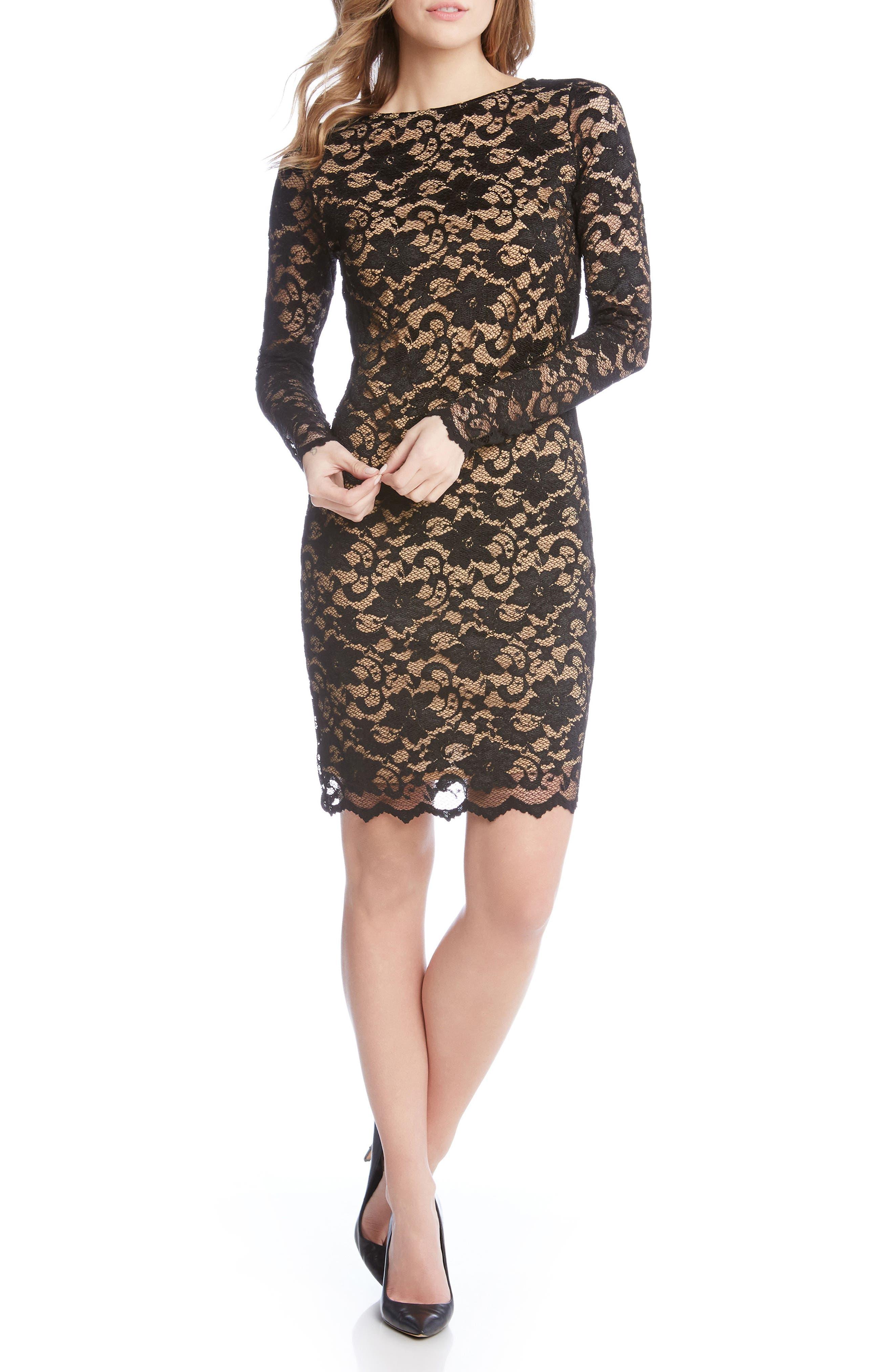 Alternate Image 2  - Karen Kane Lace Sheath Dress