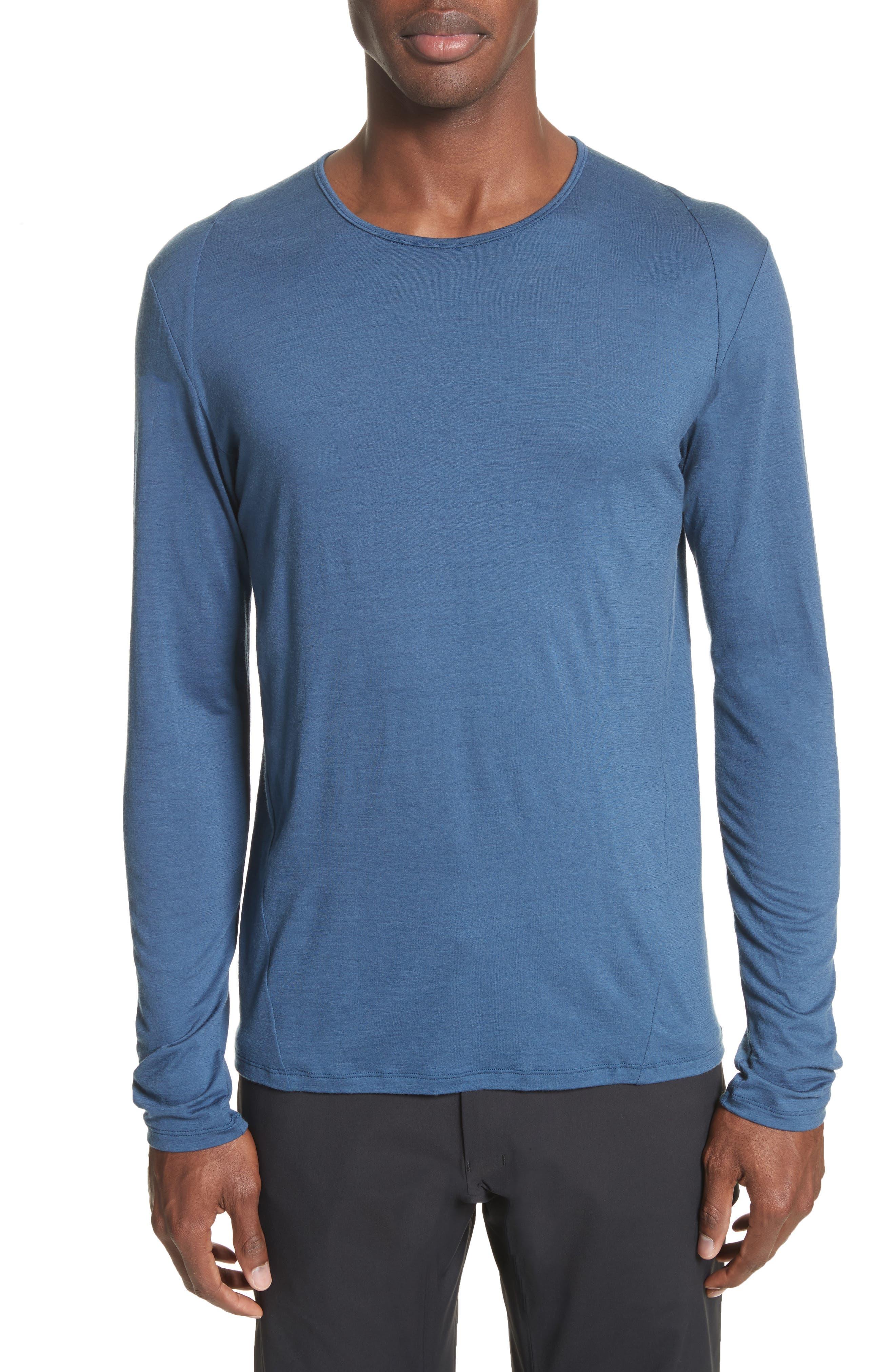 Frame Merino Wool T-Shirt,                             Main thumbnail 1, color,                             Navy