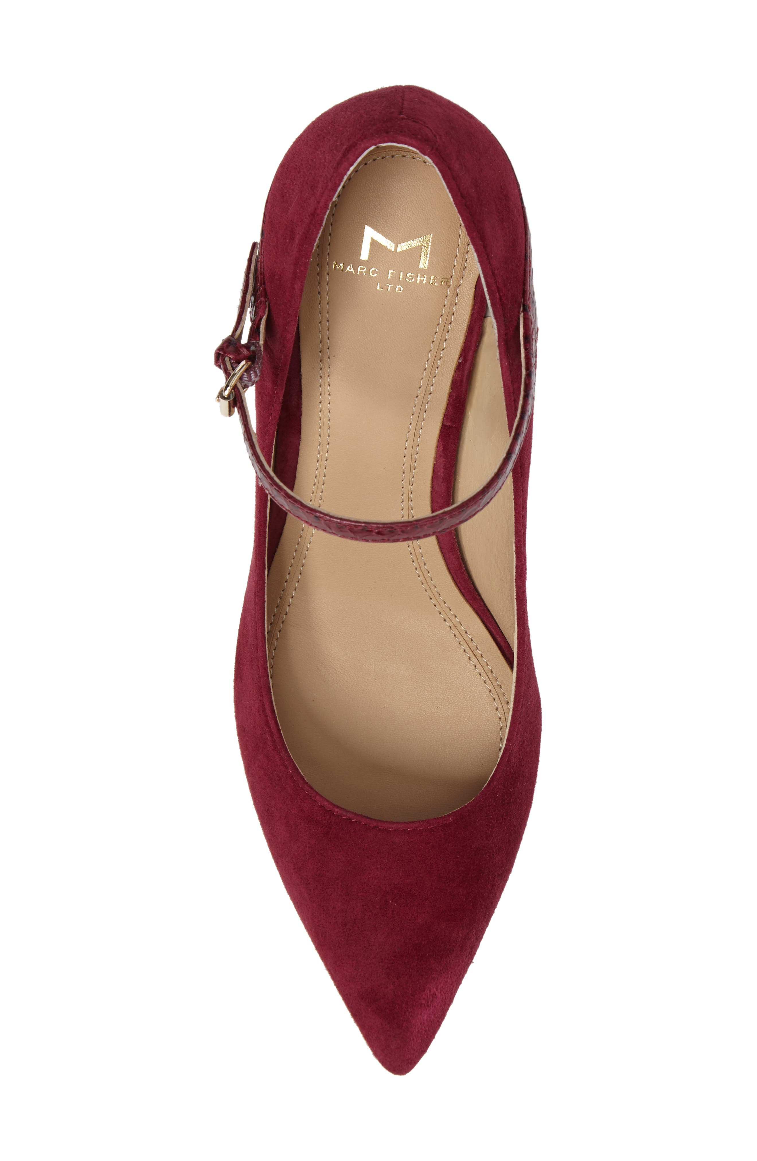 Zullys Snake Embossed Mary Jane Pump,                             Alternate thumbnail 5, color,                             Berry/ Berry Leather