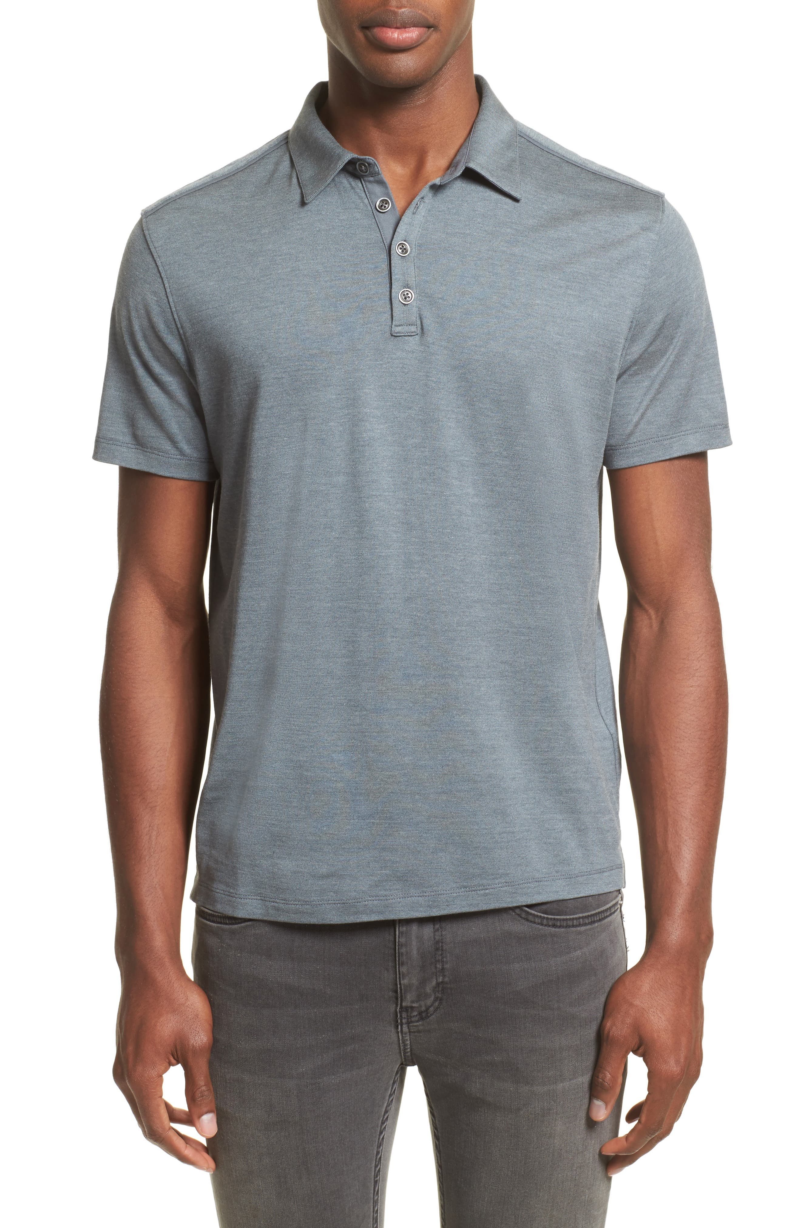 Main Image - John Varvatos Collection Hampton Silk Blend Polo