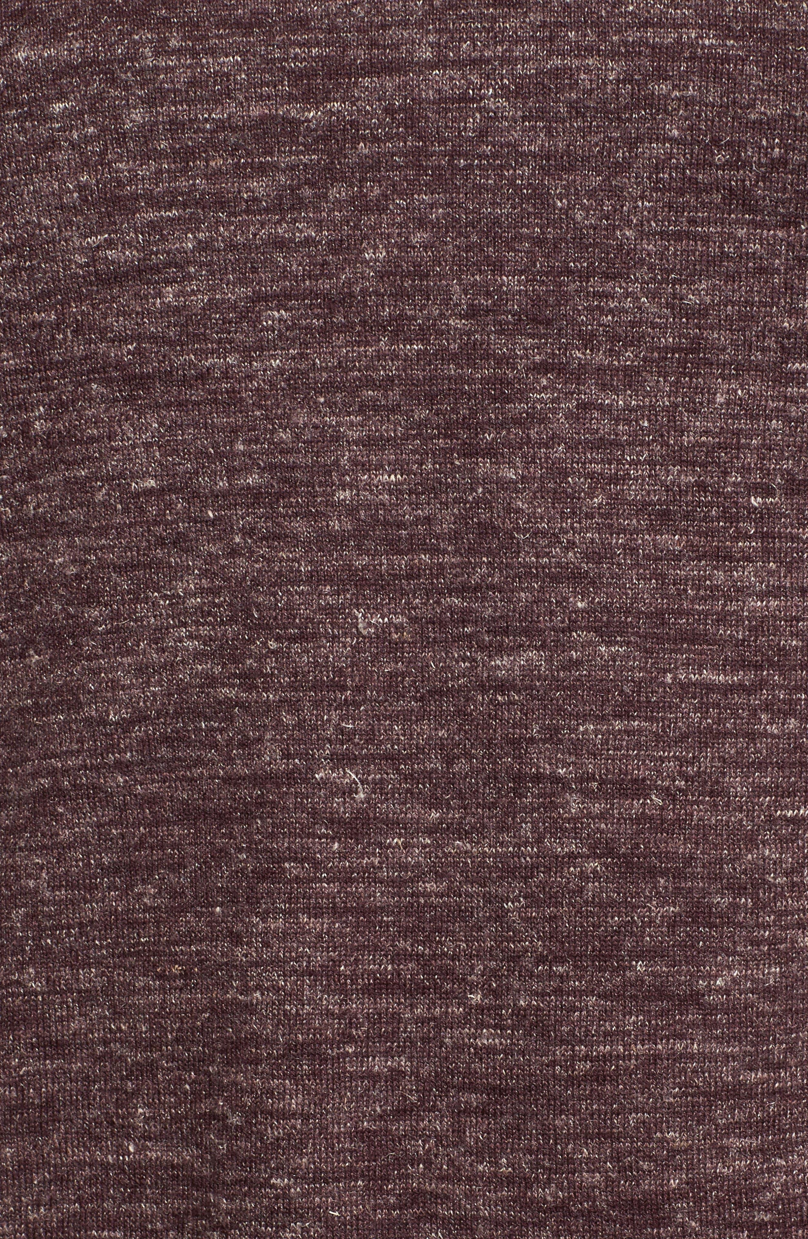 Heathered Crewneck Sweater,                             Alternate thumbnail 5, color,                             Oxblood