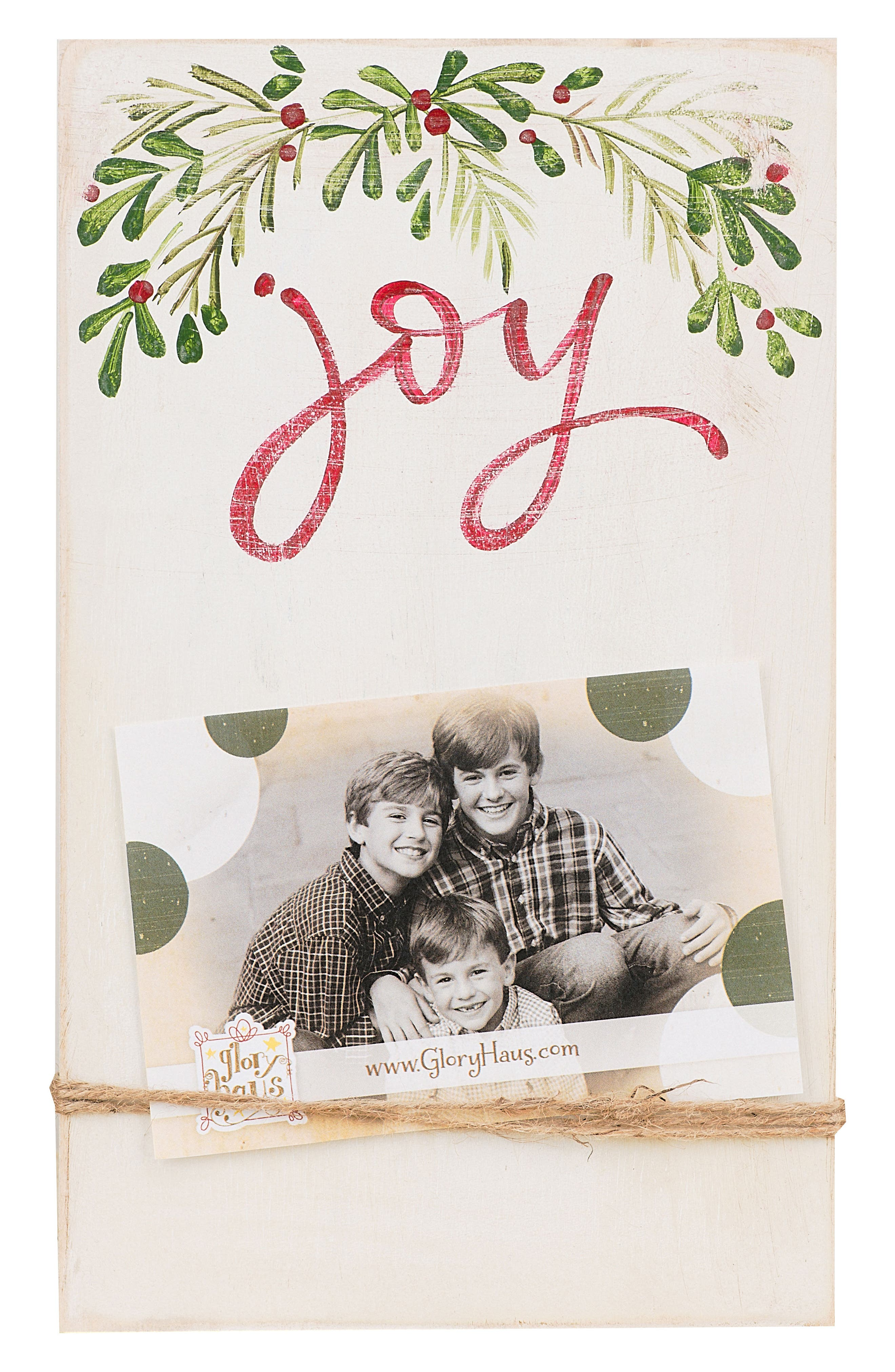 Joy Picture Frame,                             Main thumbnail 1, color,                             Cream/ Red/ Green