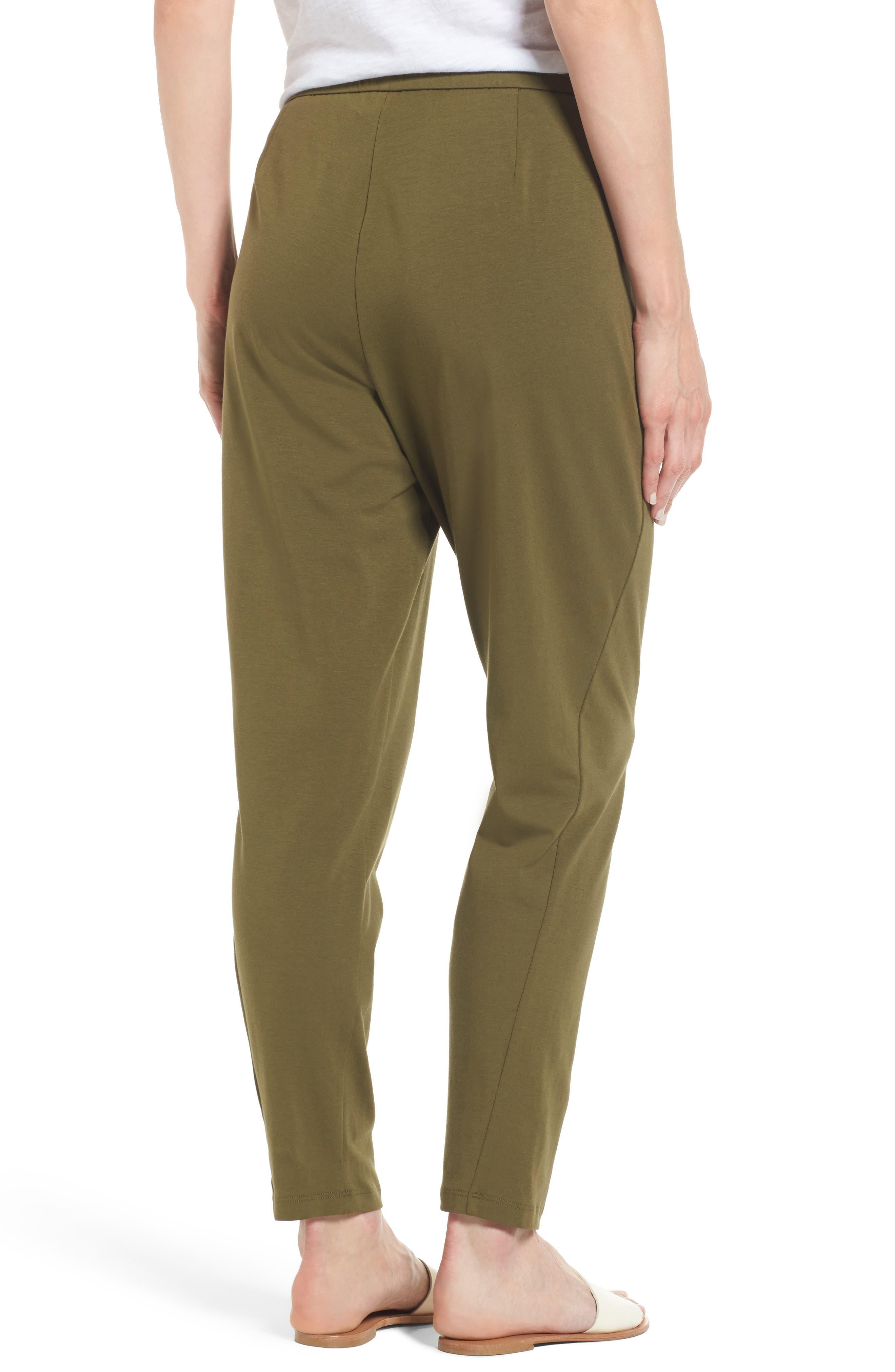 Alternate Image 2  - Eileen Fisher Stretch Organic Cotton Slim Slouchy Ankle Pants (Regular & Petite)