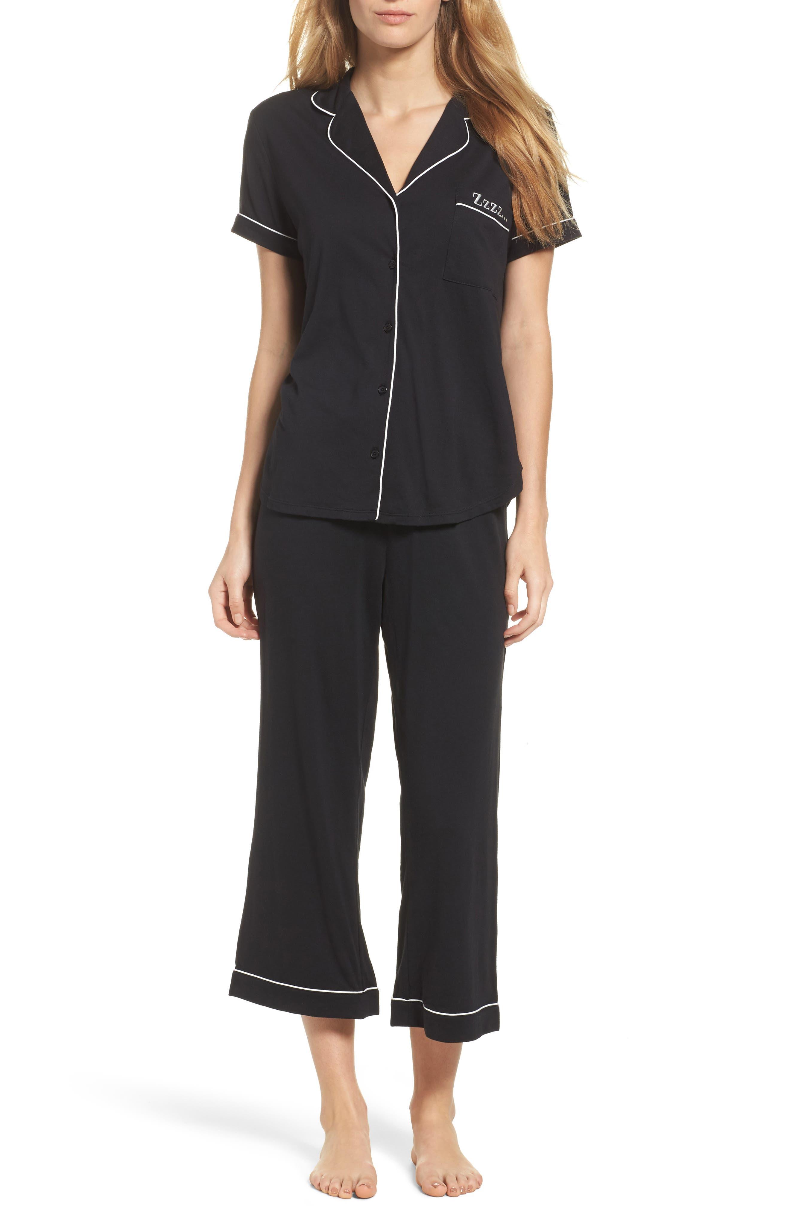 capri pajamas,                         Main,                         color, Black