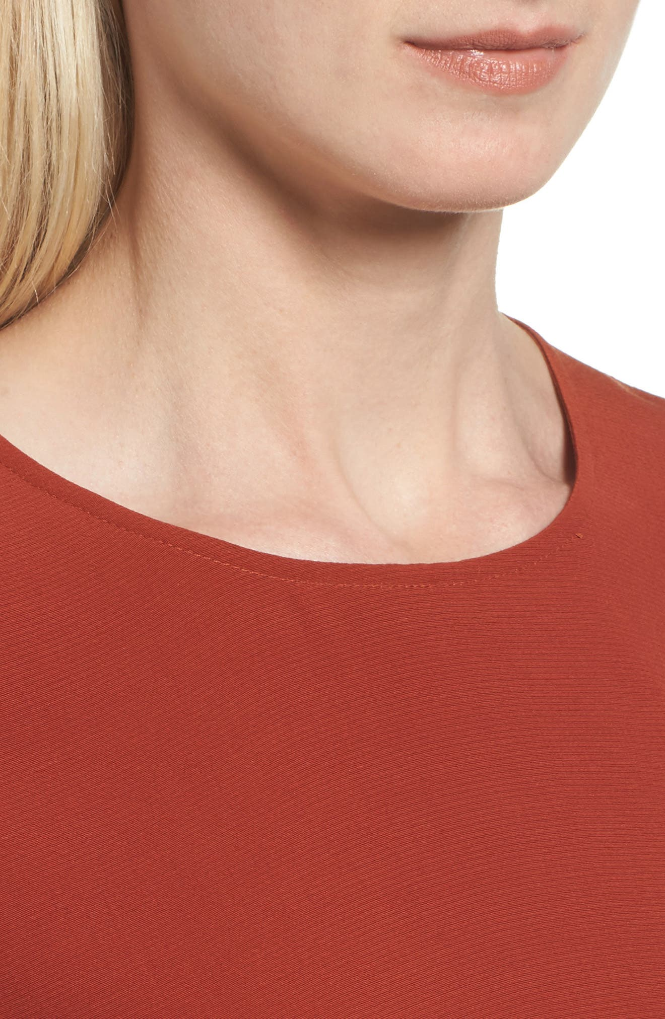 Tencel<sup>®</sup> Lyocell Blend Jersey Shift Dress,                             Alternate thumbnail 4, color,                             Paprika
