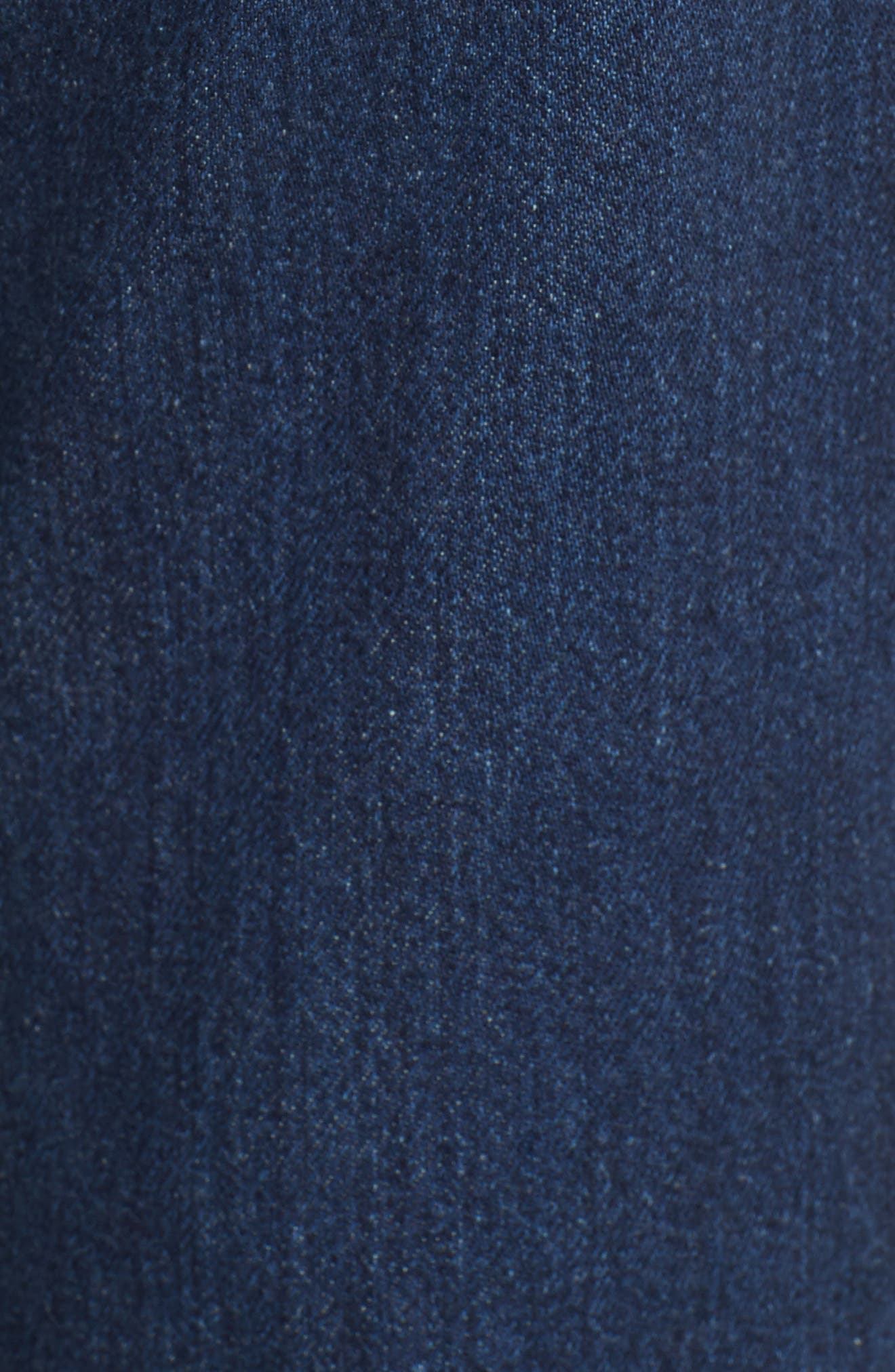 Marques'Almeida Button Trim Crop Flare Jeans,                             Alternate thumbnail 6, color,                             Indigo