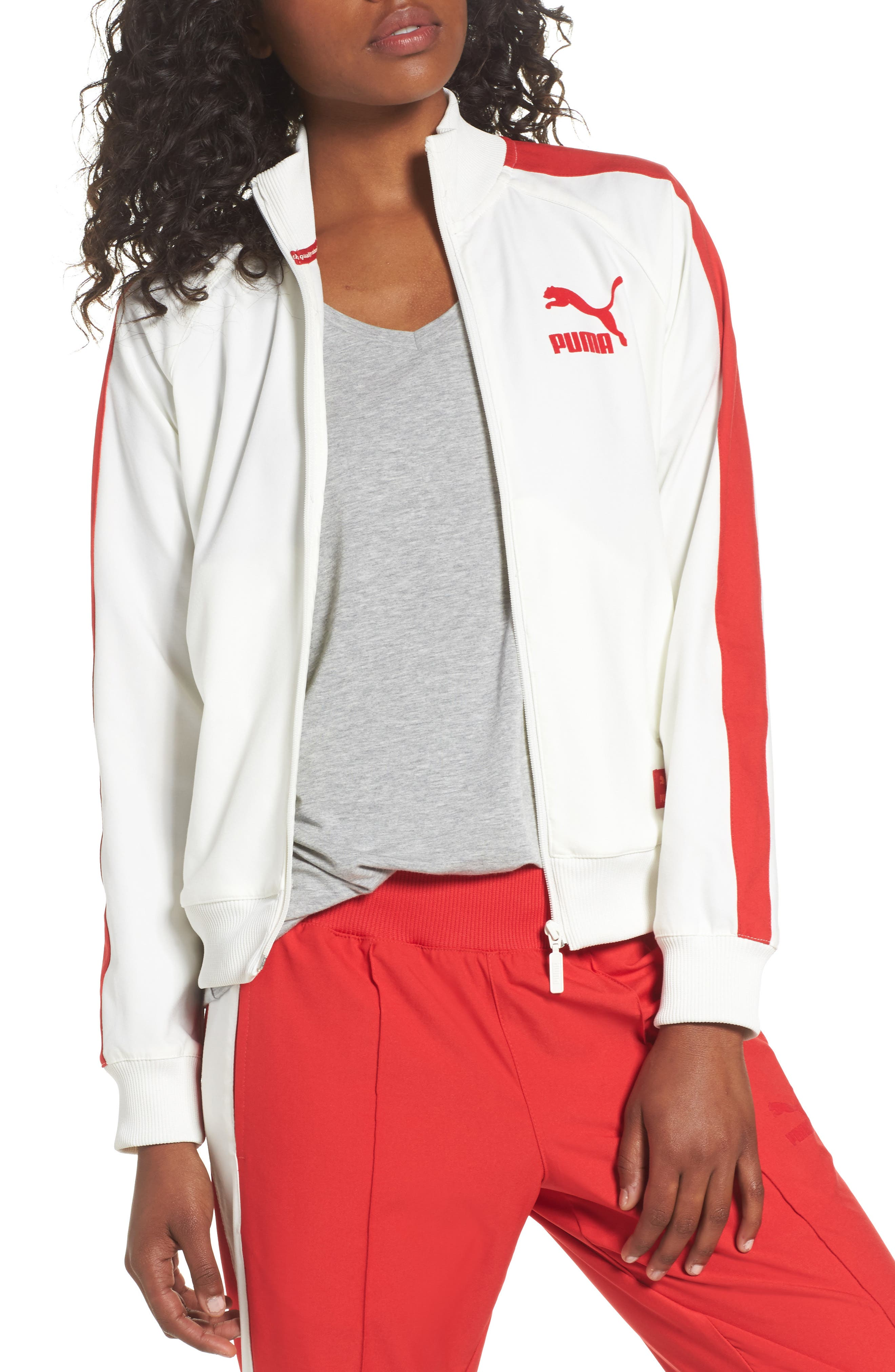 True Archive T7 Track Jacket,                         Main,                         color, Marshmallow