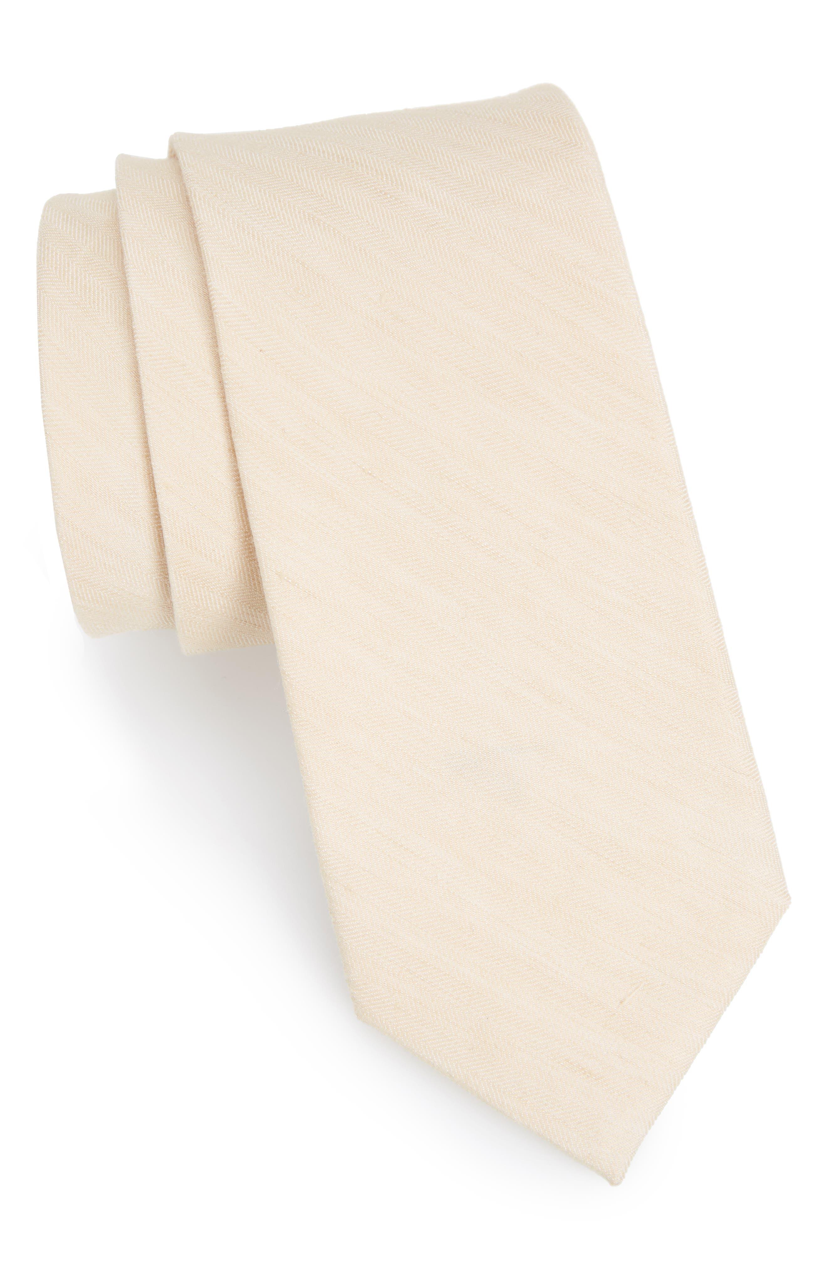 The Tie Bar Solid Linen & Silk Tie