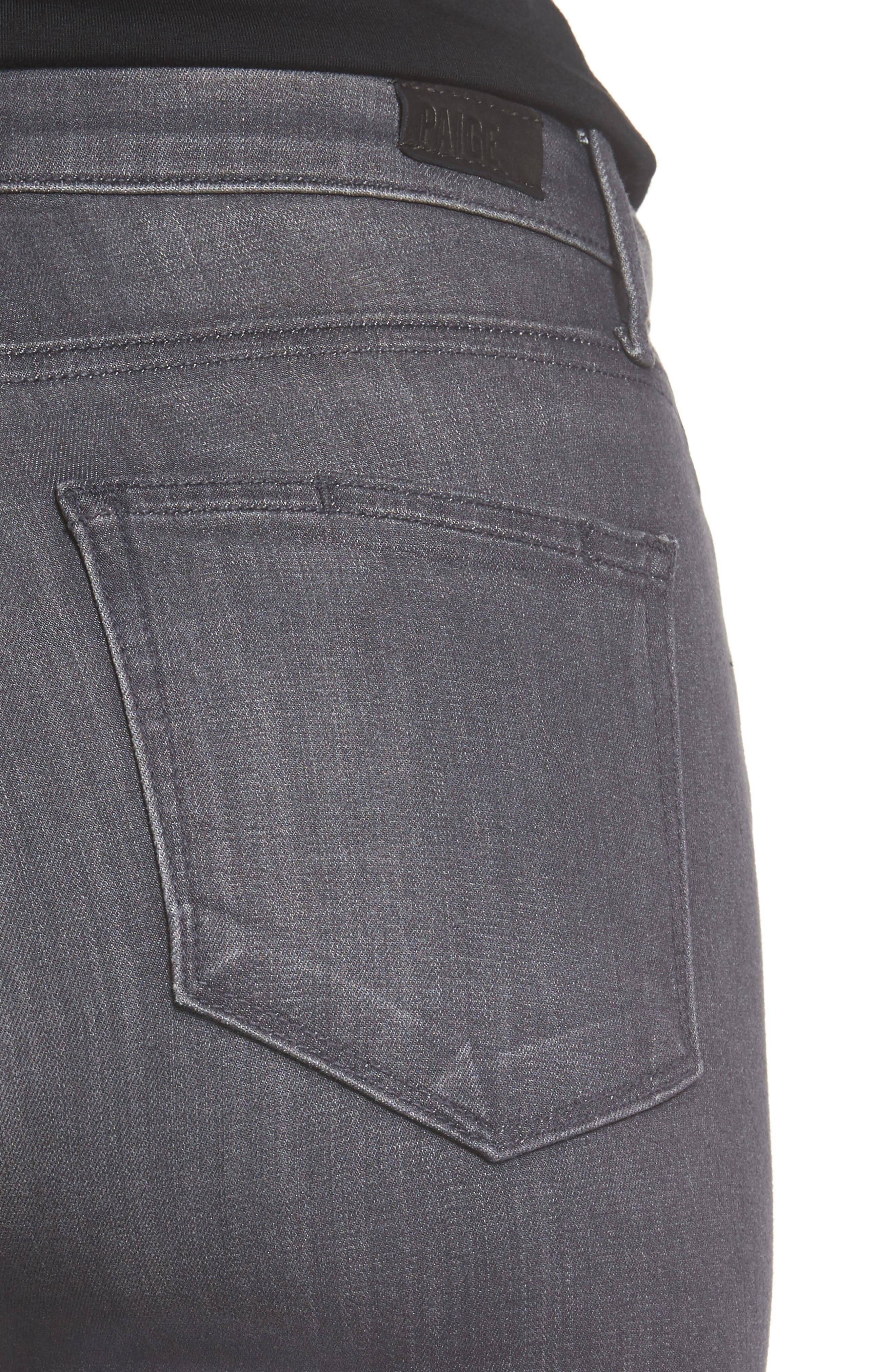 Alternate Image 4  - PAIGE Transcend - Hoxton High Waist Ultra Skinny Jeans (Summit Grey)