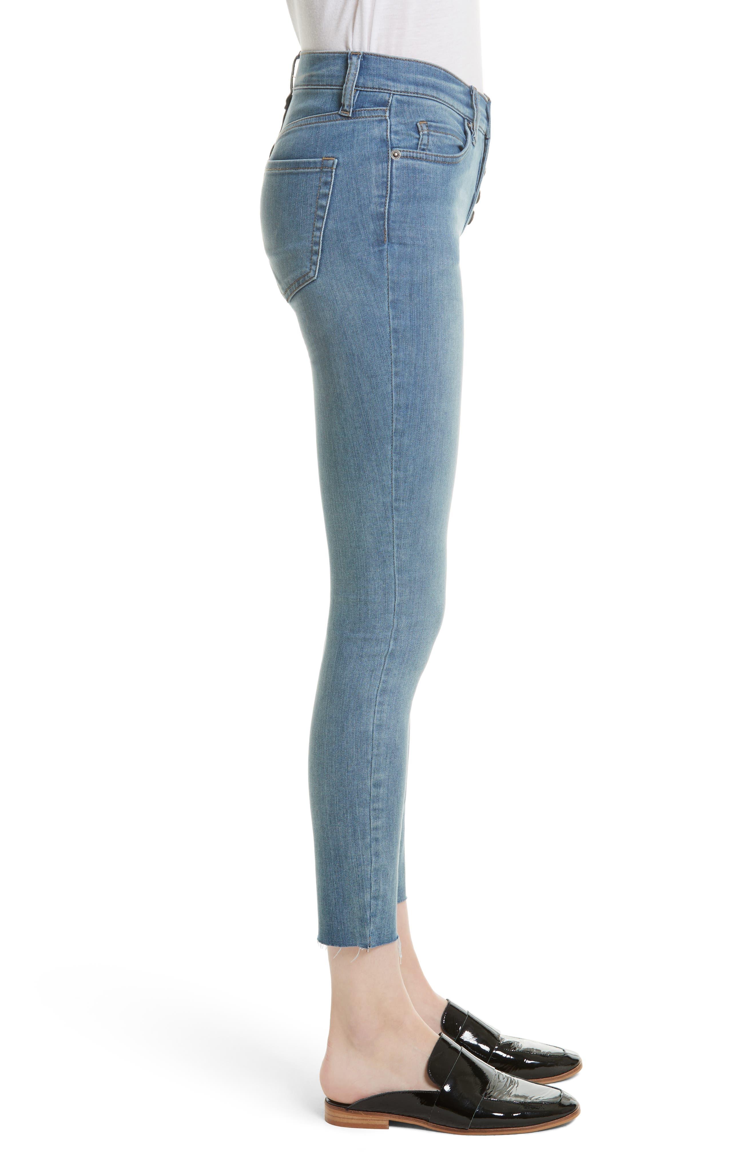 Alternate Image 3  - Free People Reagan Crop Skinny Jeans (Sky)