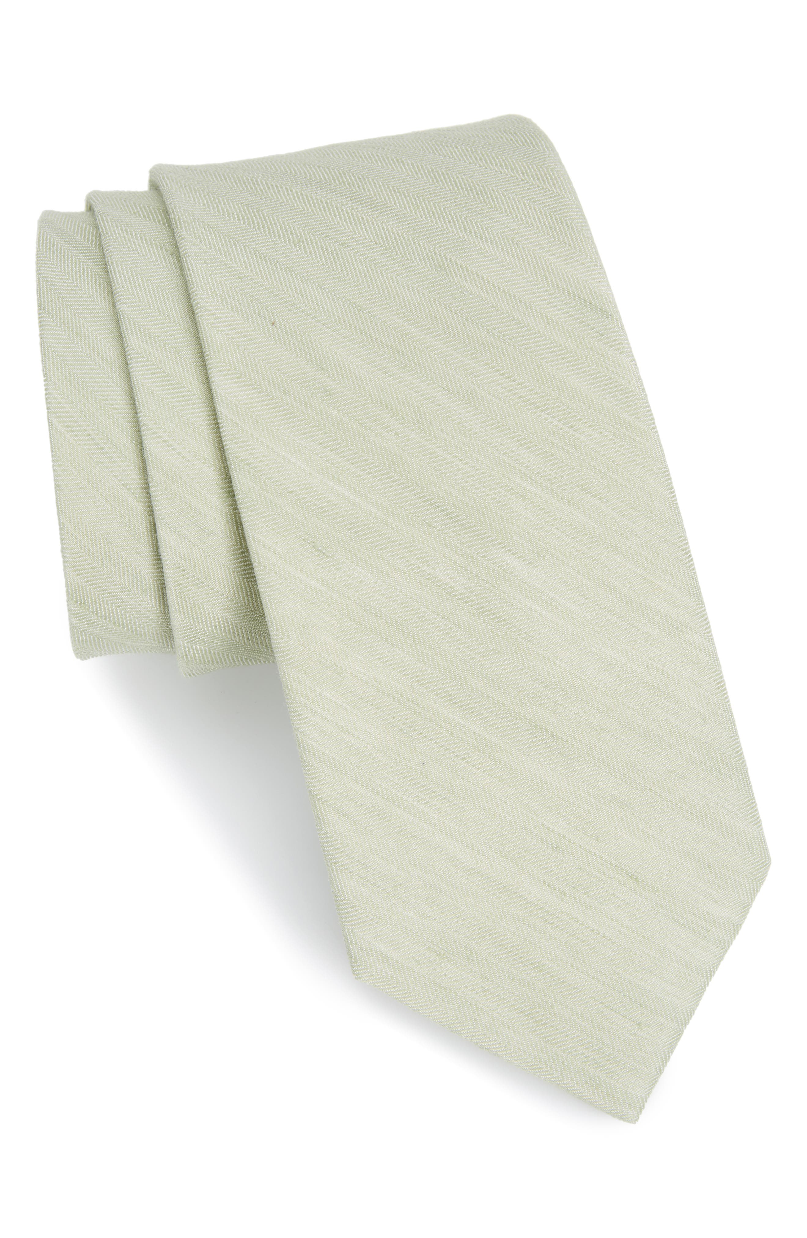 Main Image - The Tie Bar Solid Linen & Silk Tie