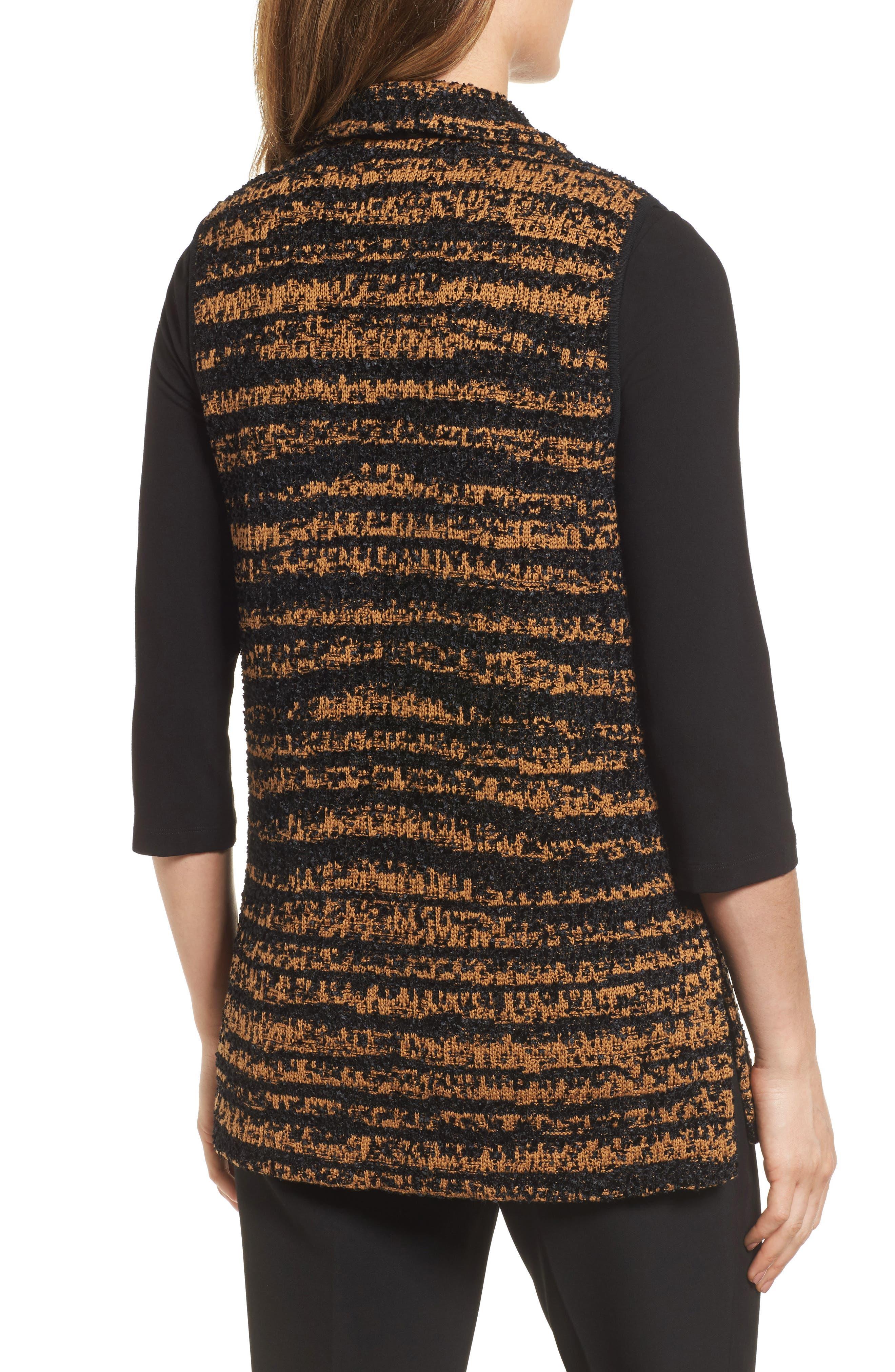 Stripe Sweater Vest,                             Alternate thumbnail 2, color,                             Black/ Bronze