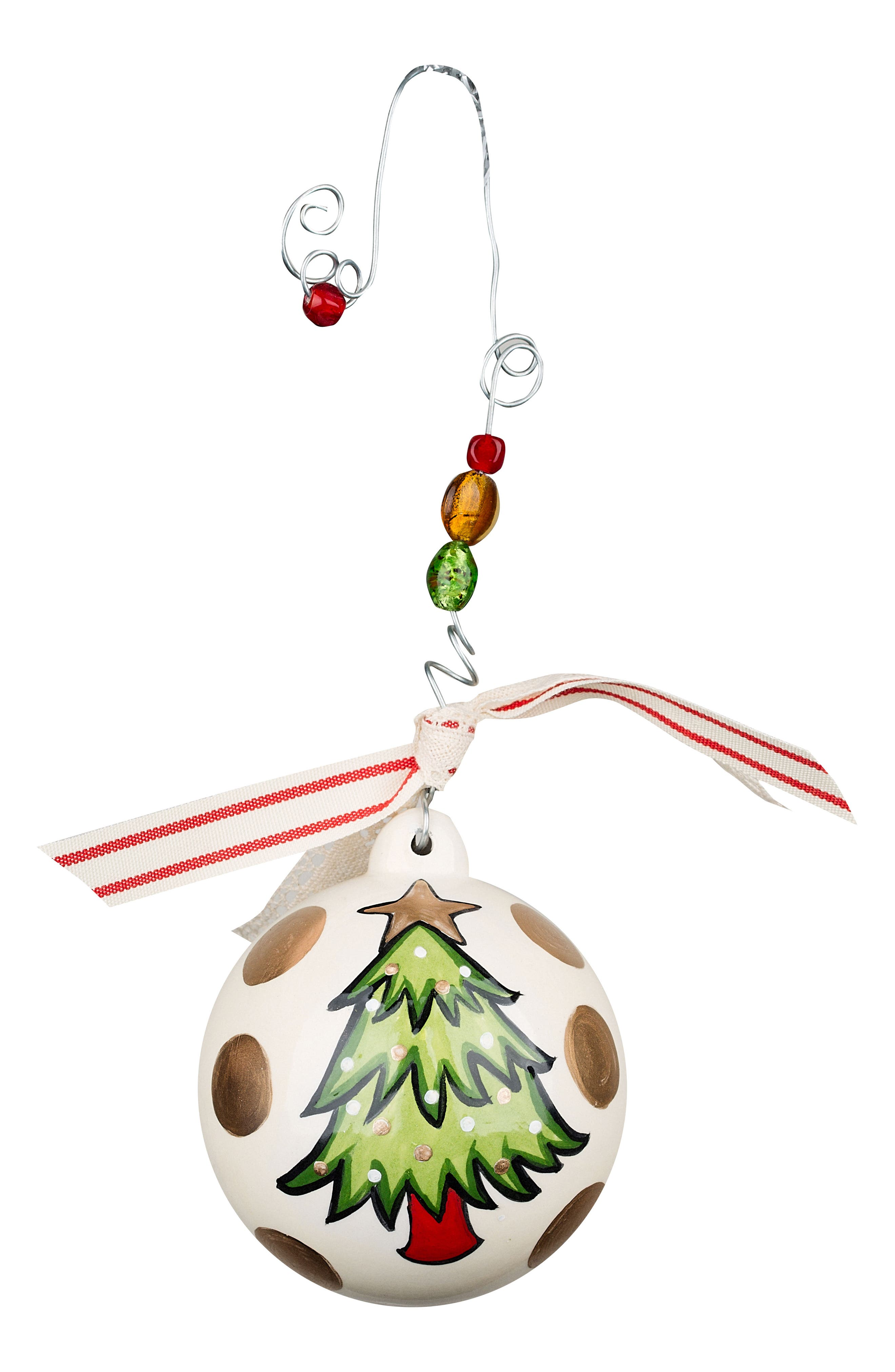 Most Wonderful Time of the Year Ball Ornament,                             Alternate thumbnail 2, color,                             Green/ Multi
