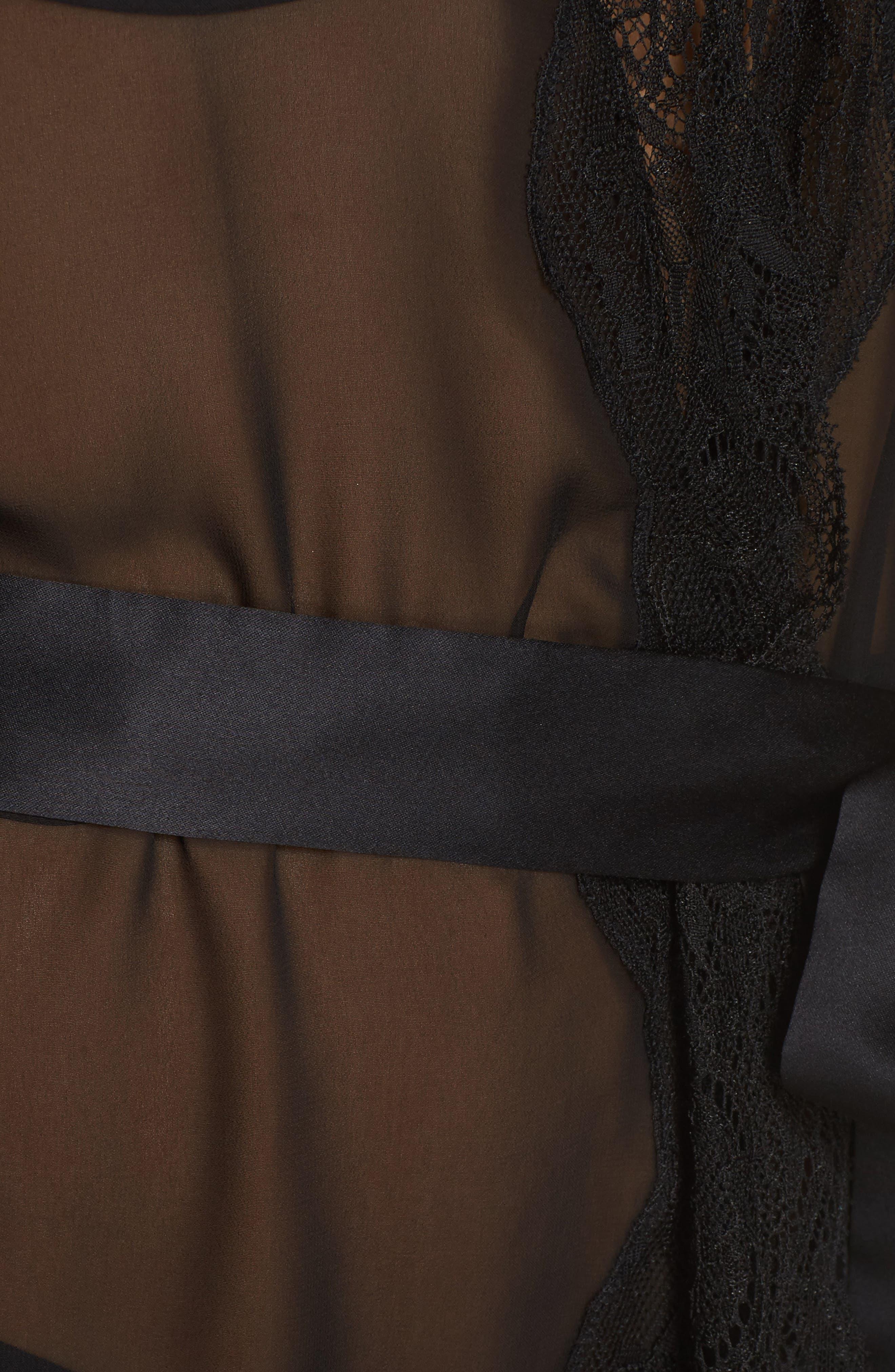 Ida Sheer Wrap,                             Alternate thumbnail 5, color,                             Black