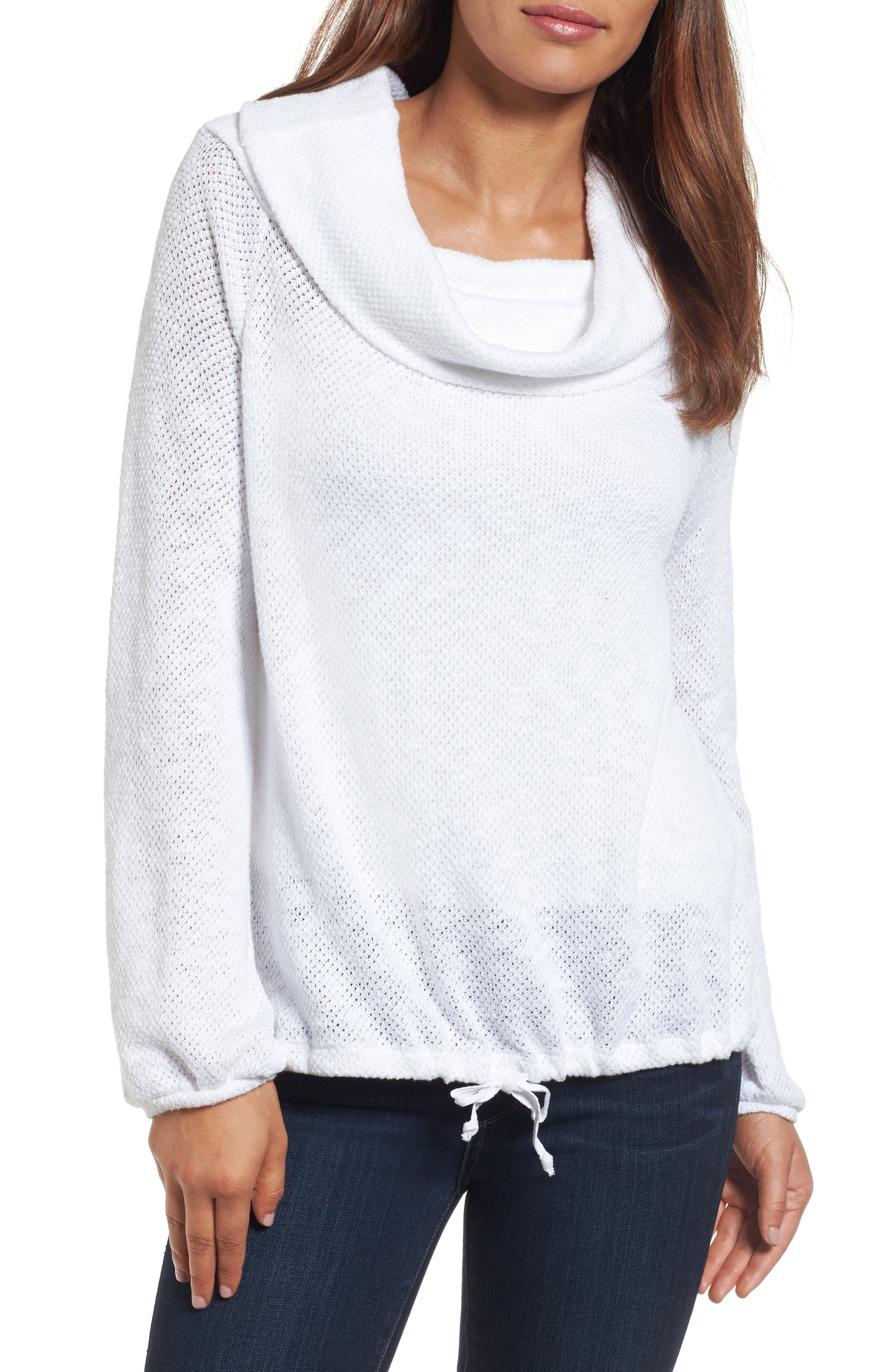 Convertible Off the Shoulder Pullover,                             Main thumbnail 1, color,                             White