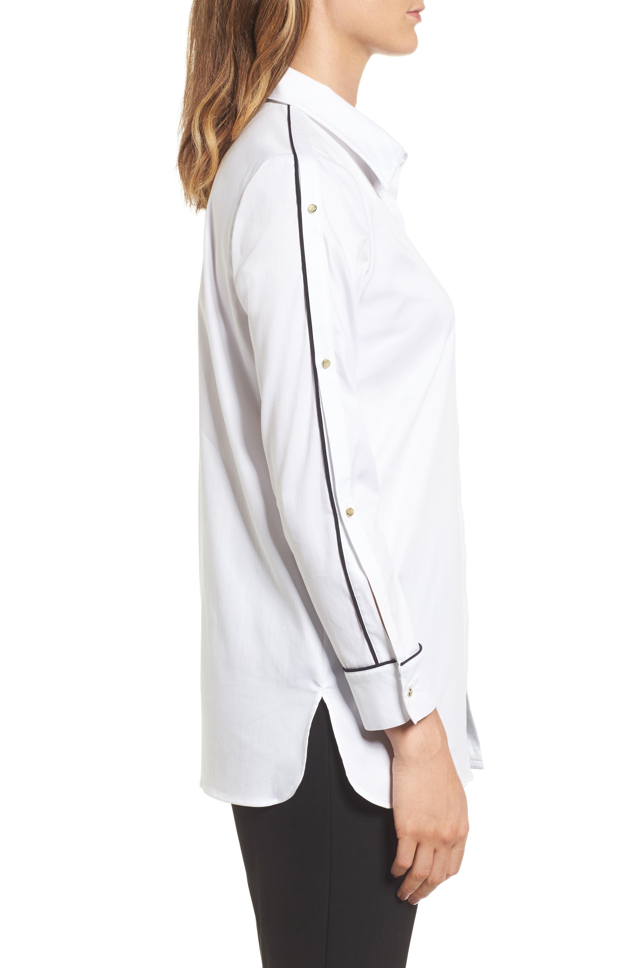Alternate Image 3  - Ming Wang Split Sleeve Shirt