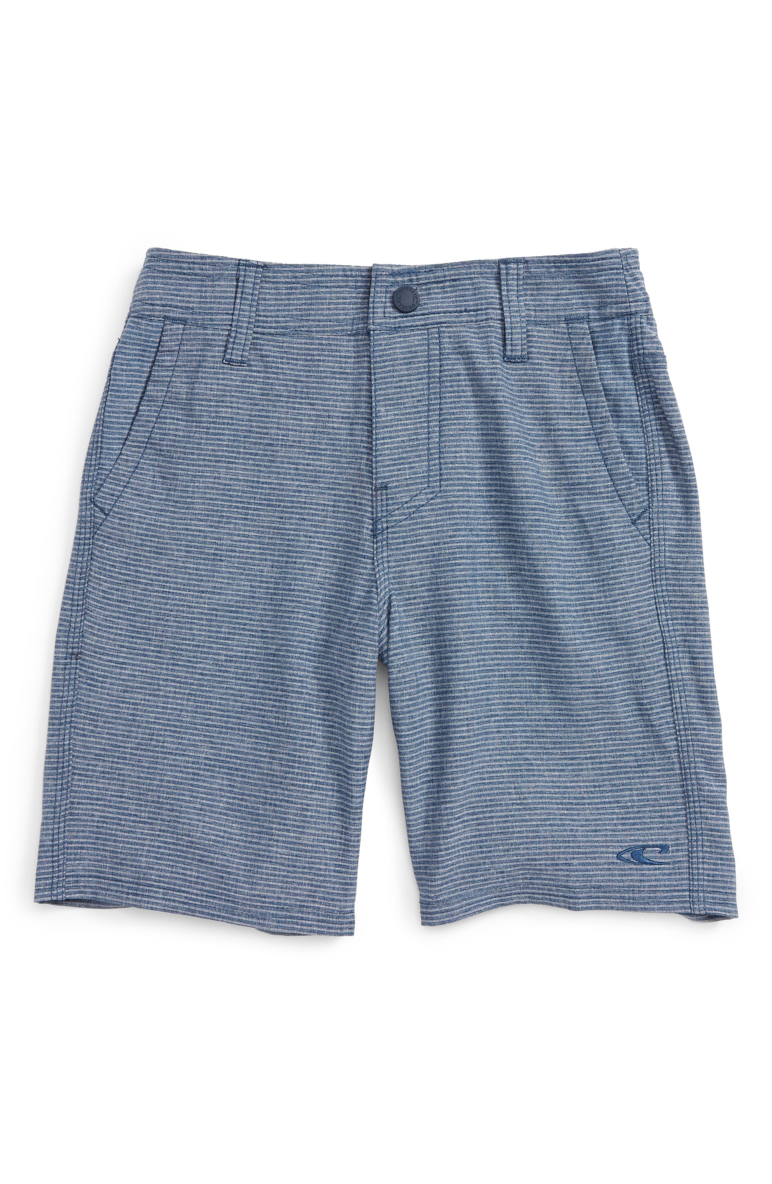 Locked Stripe Hybrid Shorts,                         Main,                         color, Ocean