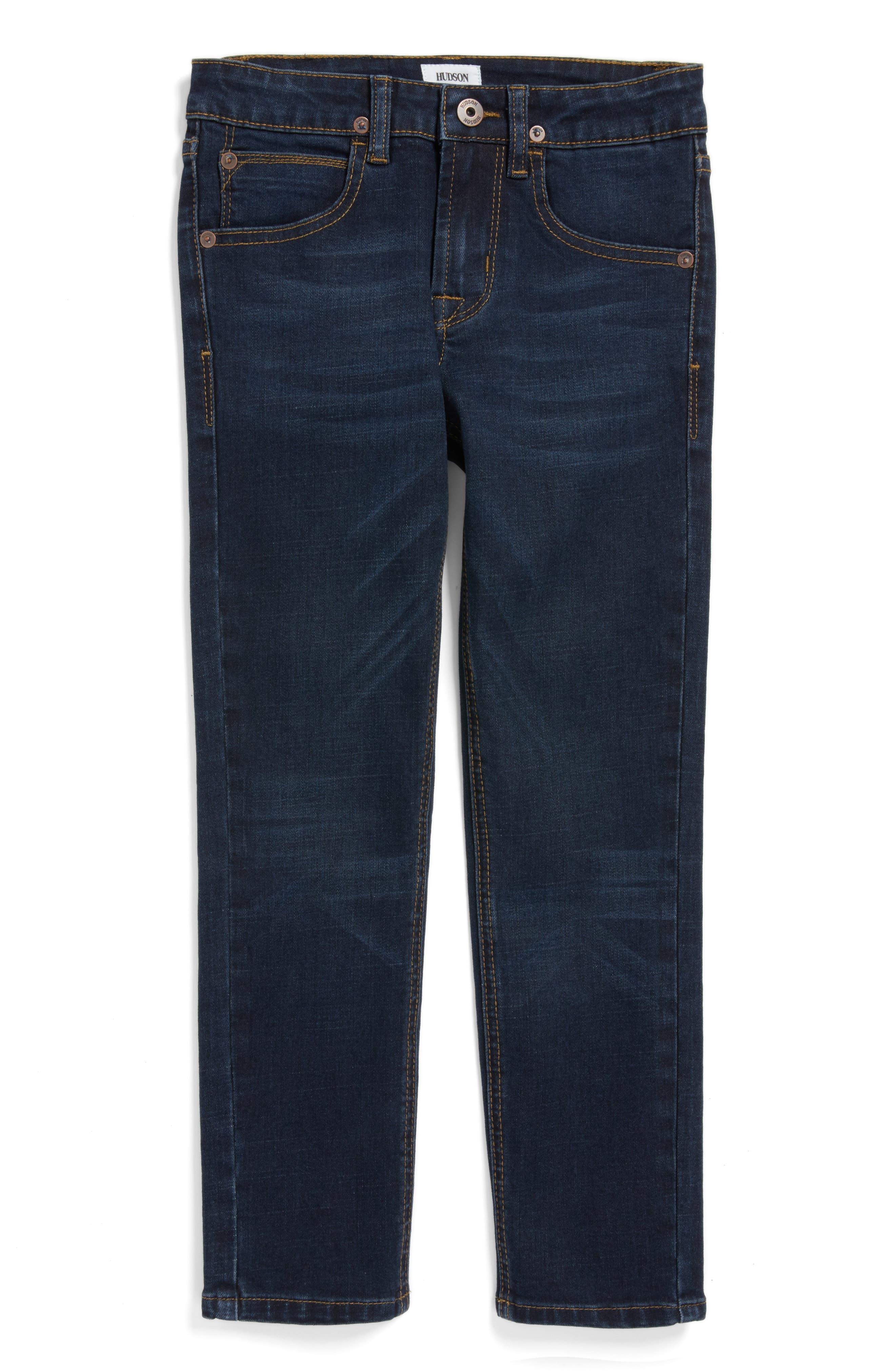 Hudson Jagger Slim Straight Leg Jeans,                         Main,                         color, Shaken Blue