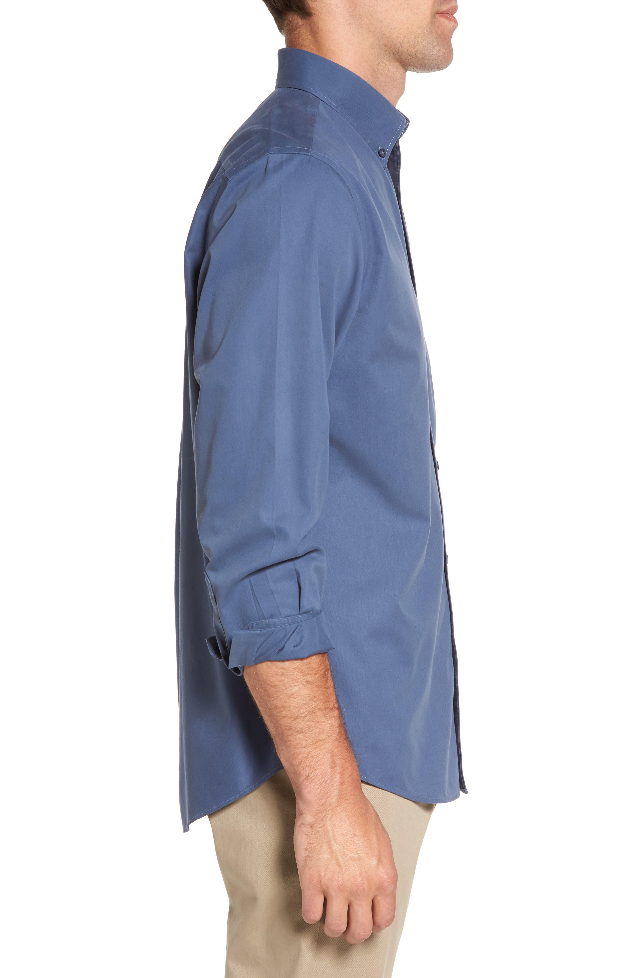 Alternate Image 3  - Nordstrom Men's Shop Smartcare™ Traditional Fit Twill Boat Shirt (Regular & Tall)