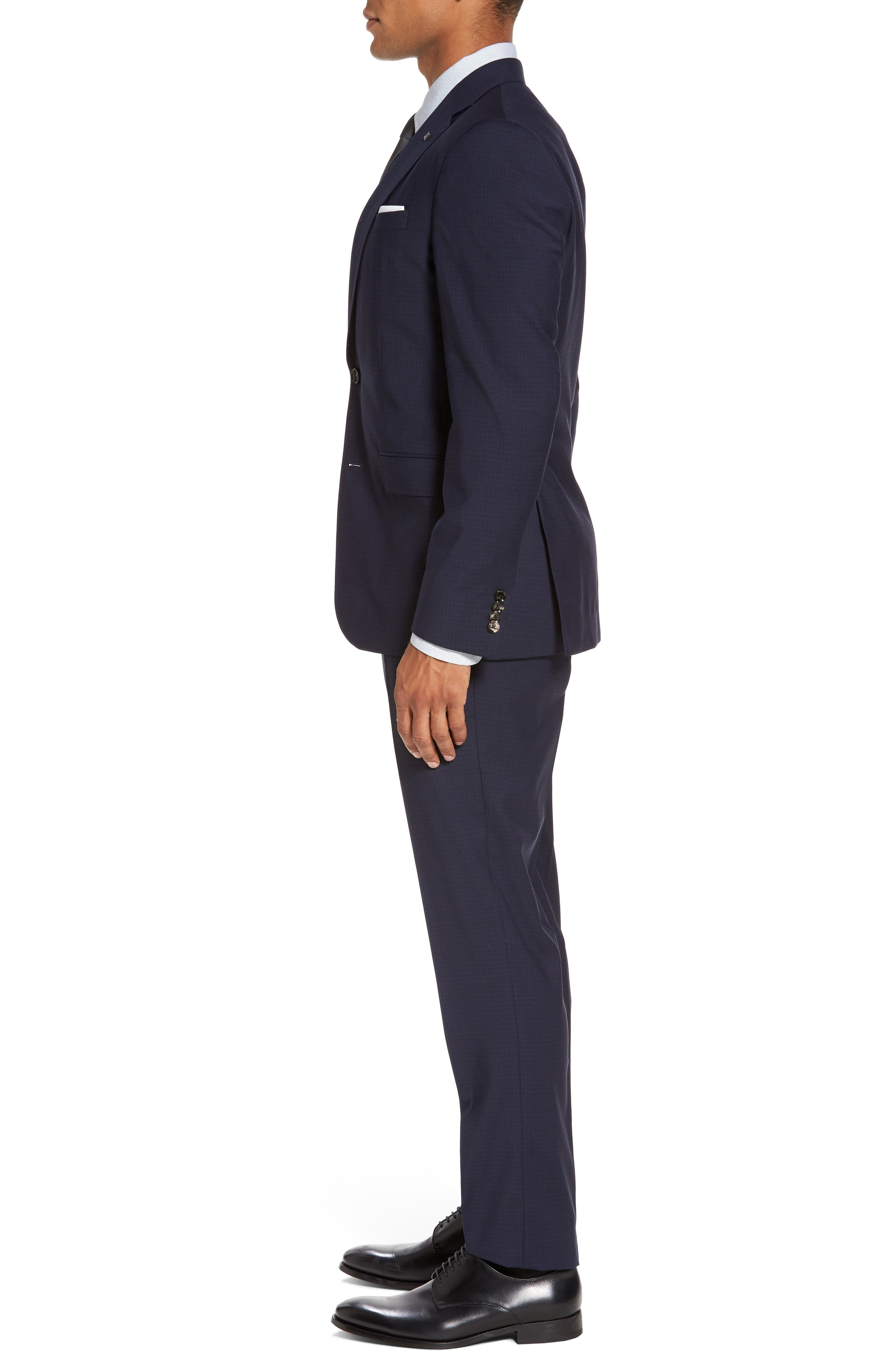 Alternate Image 3  - Ted Baker London Roger Trim Fit Check Wool Suit
