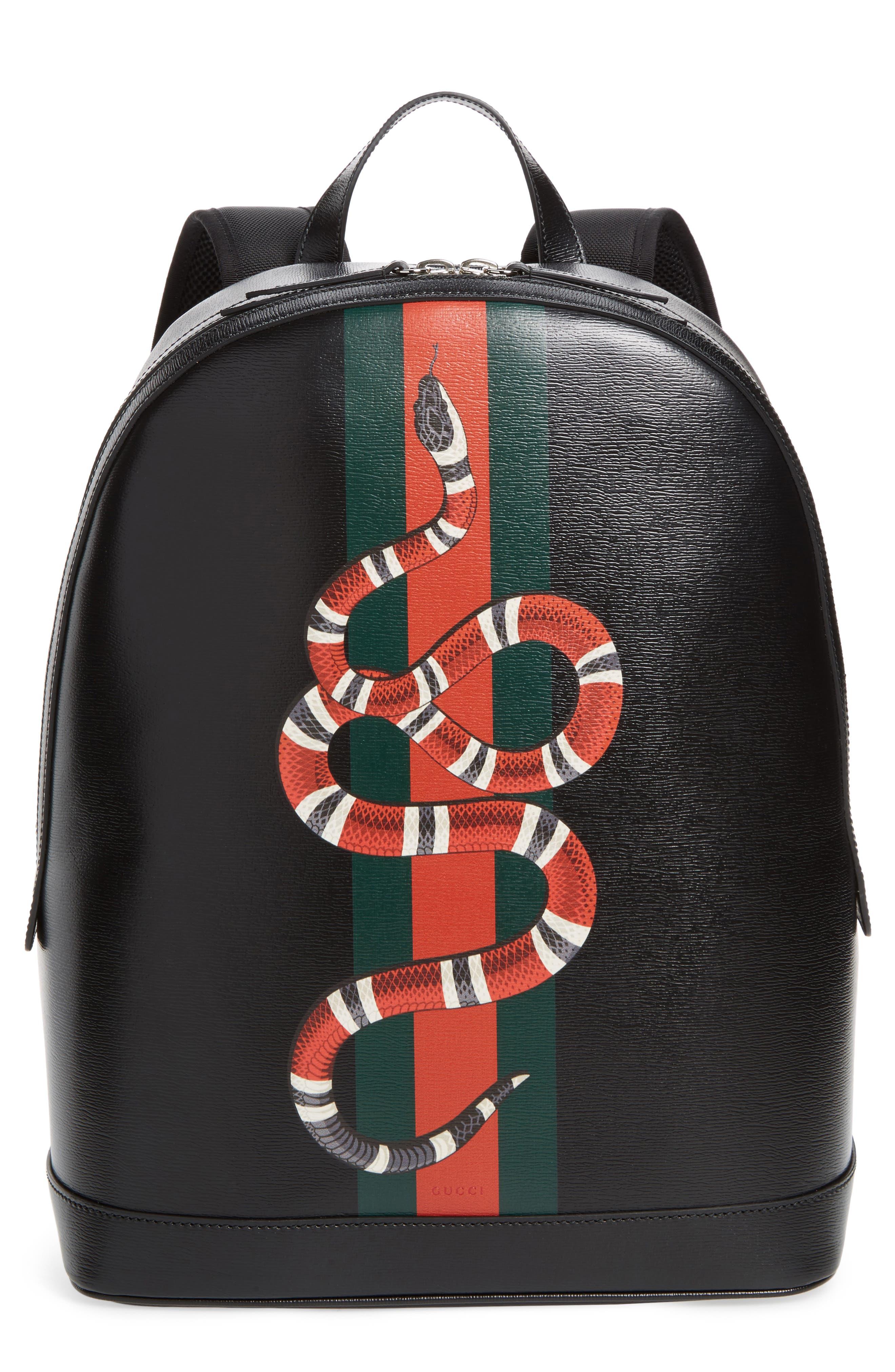 Gucci Snake Print Leather Backpack Nordstrom