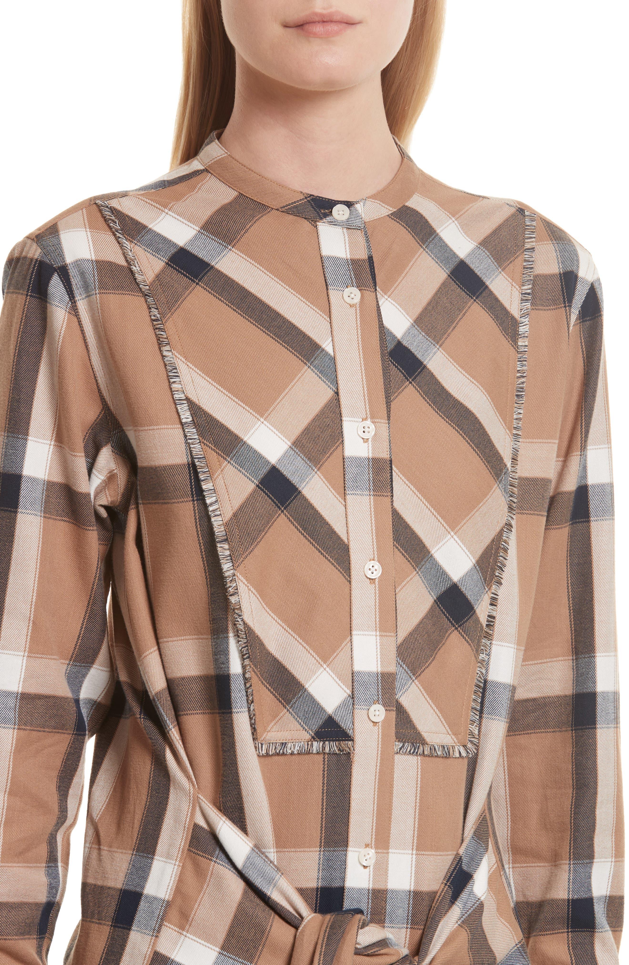 Alternate Image 4  - Derek Lam 10 Crosby Plaid Tie Waist Dress