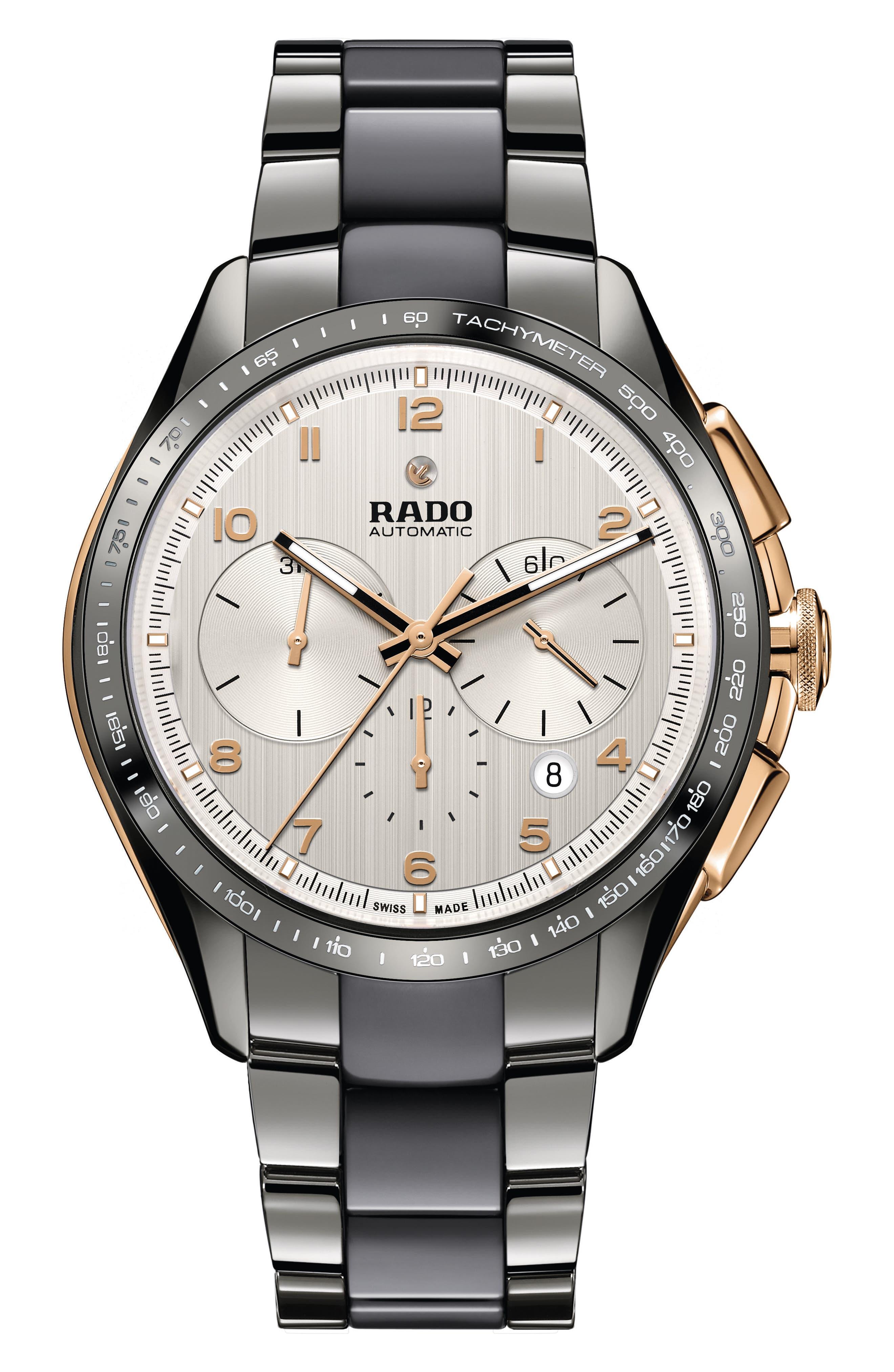 HyperChrome Automatic Chronograph Bracelet Watch, 45mm,                         Main,                         color, Plasma/ Silver/ Gold