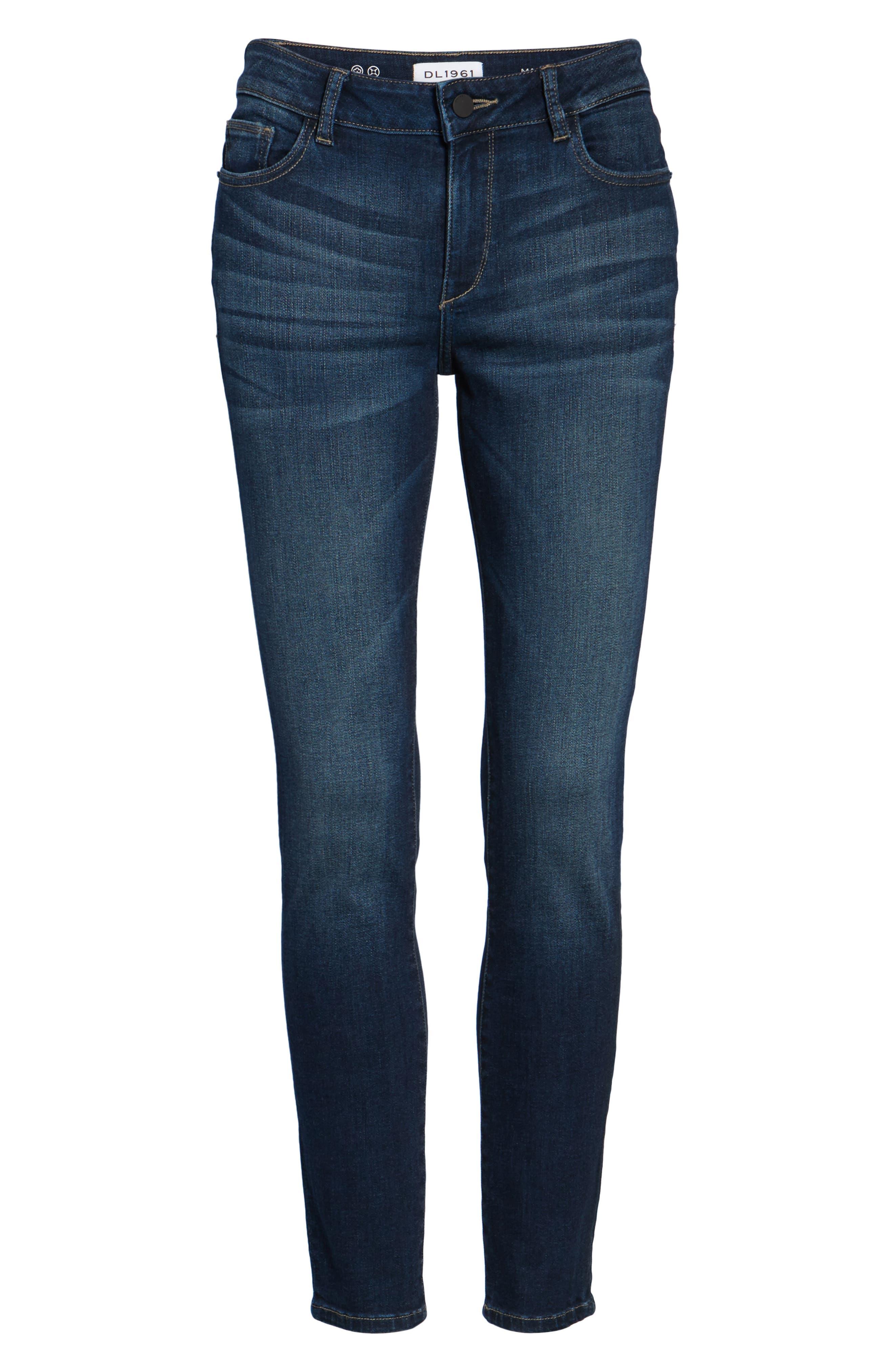 Margaux Instasculpt Ankle Skinny Jeans,                             Alternate thumbnail 7, color,                             Salt Creek
