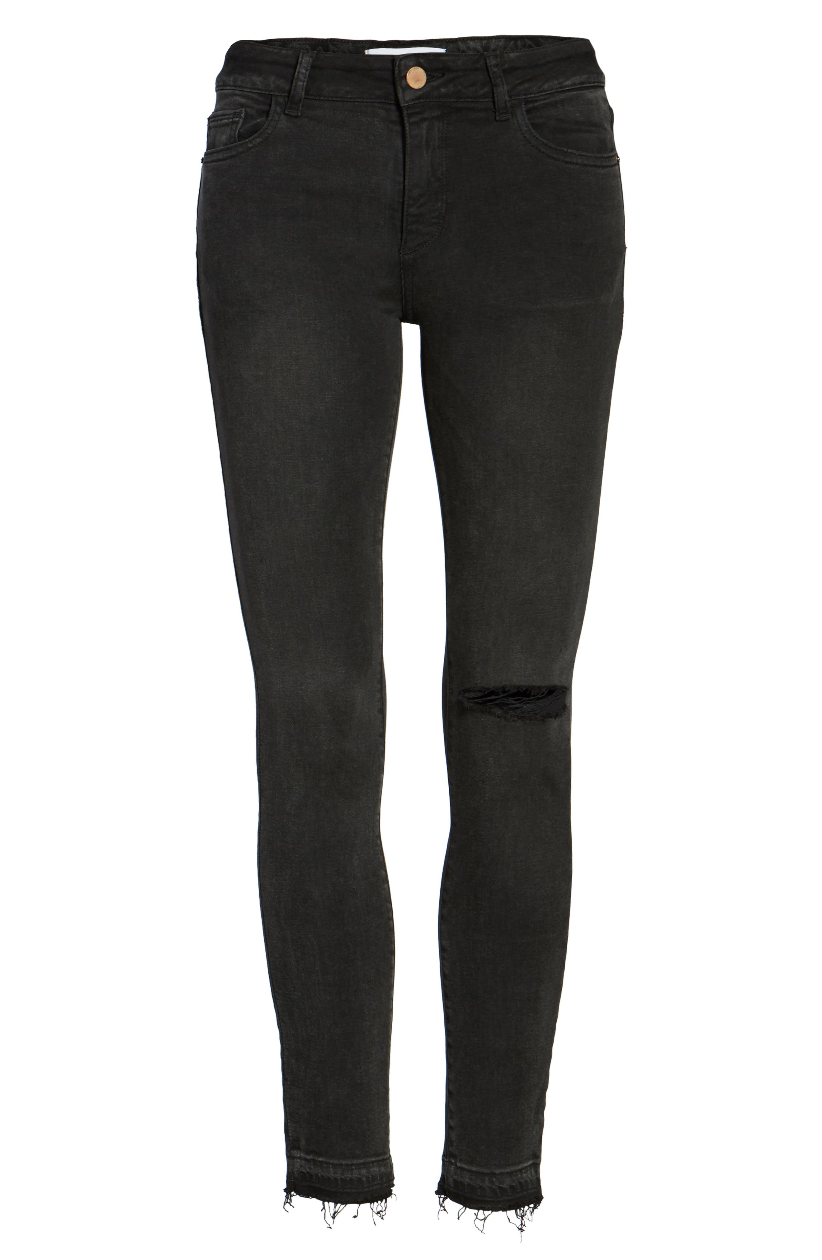 Margaux Instasculpt Ankle Skinny Jeans,                             Alternate thumbnail 6, color,                             Smokey River