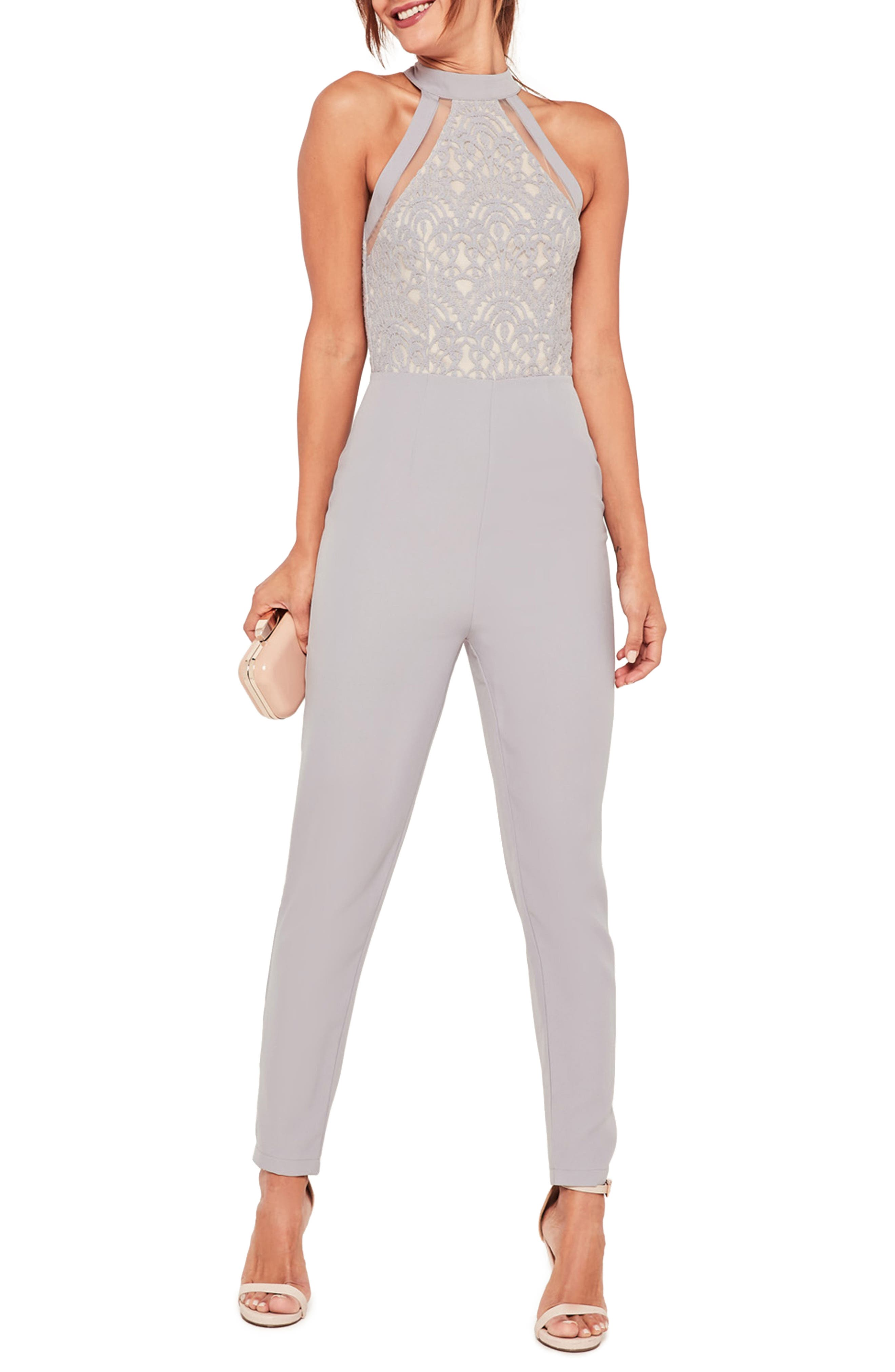 MISSGUIDED Lace Sleeveless Jumpsuit