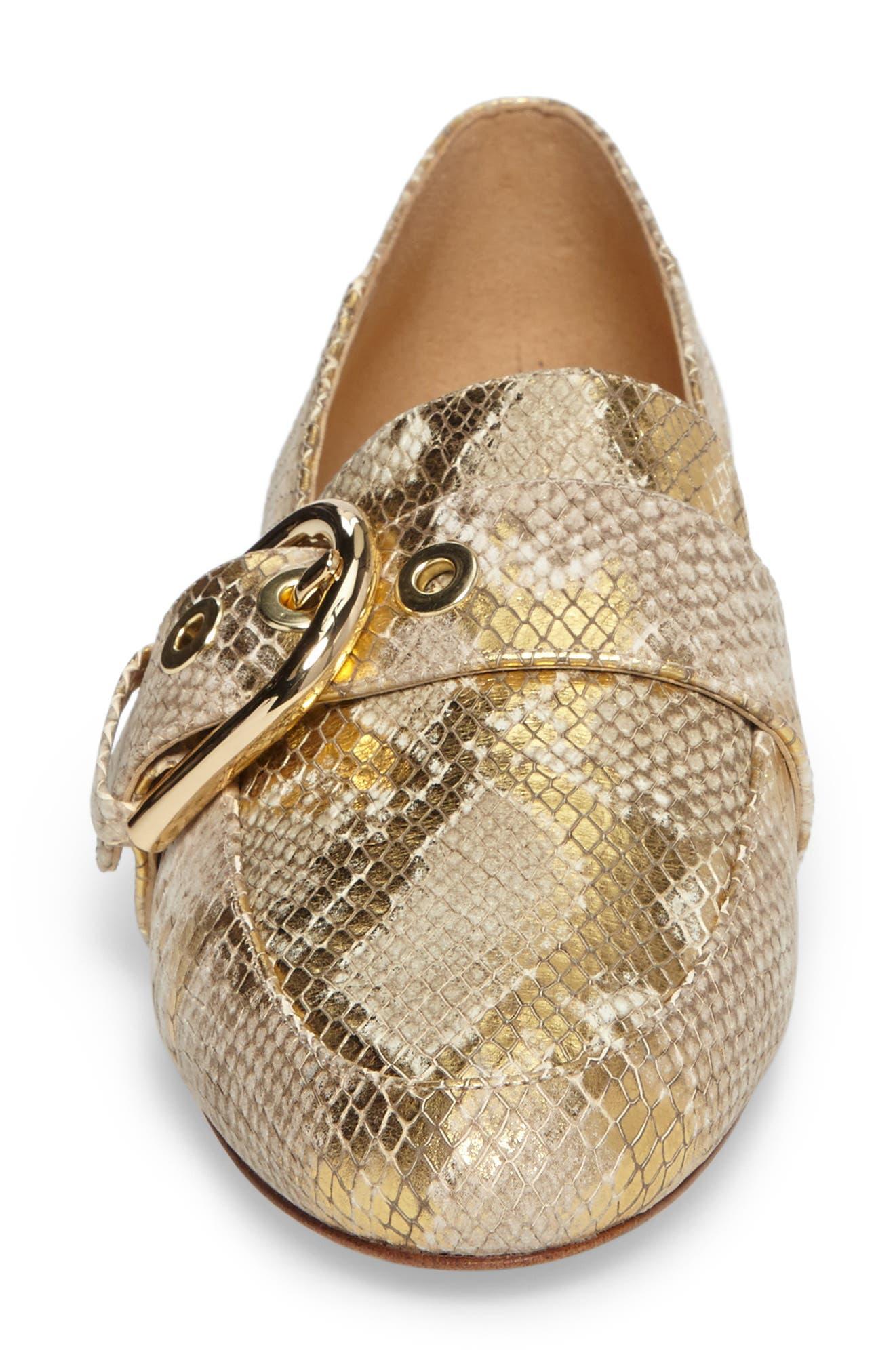 Cooper Loafer,                             Alternate thumbnail 4, color,                             Natural/ Gold Snakeskin