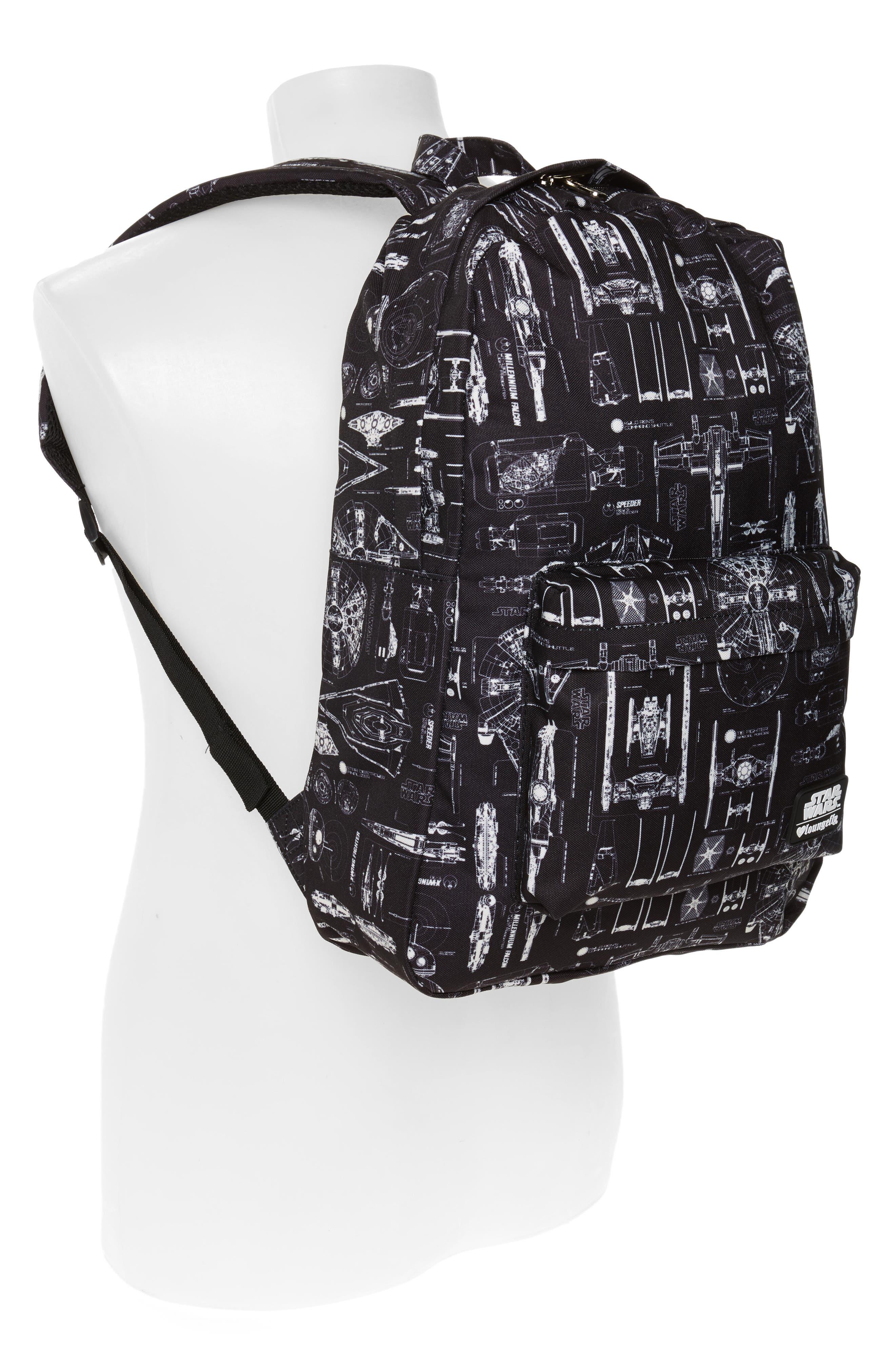 Star Wars<sup>™</sup> The Force Awakens Blueprint Backpack,                             Alternate thumbnail 6, color,                             Black