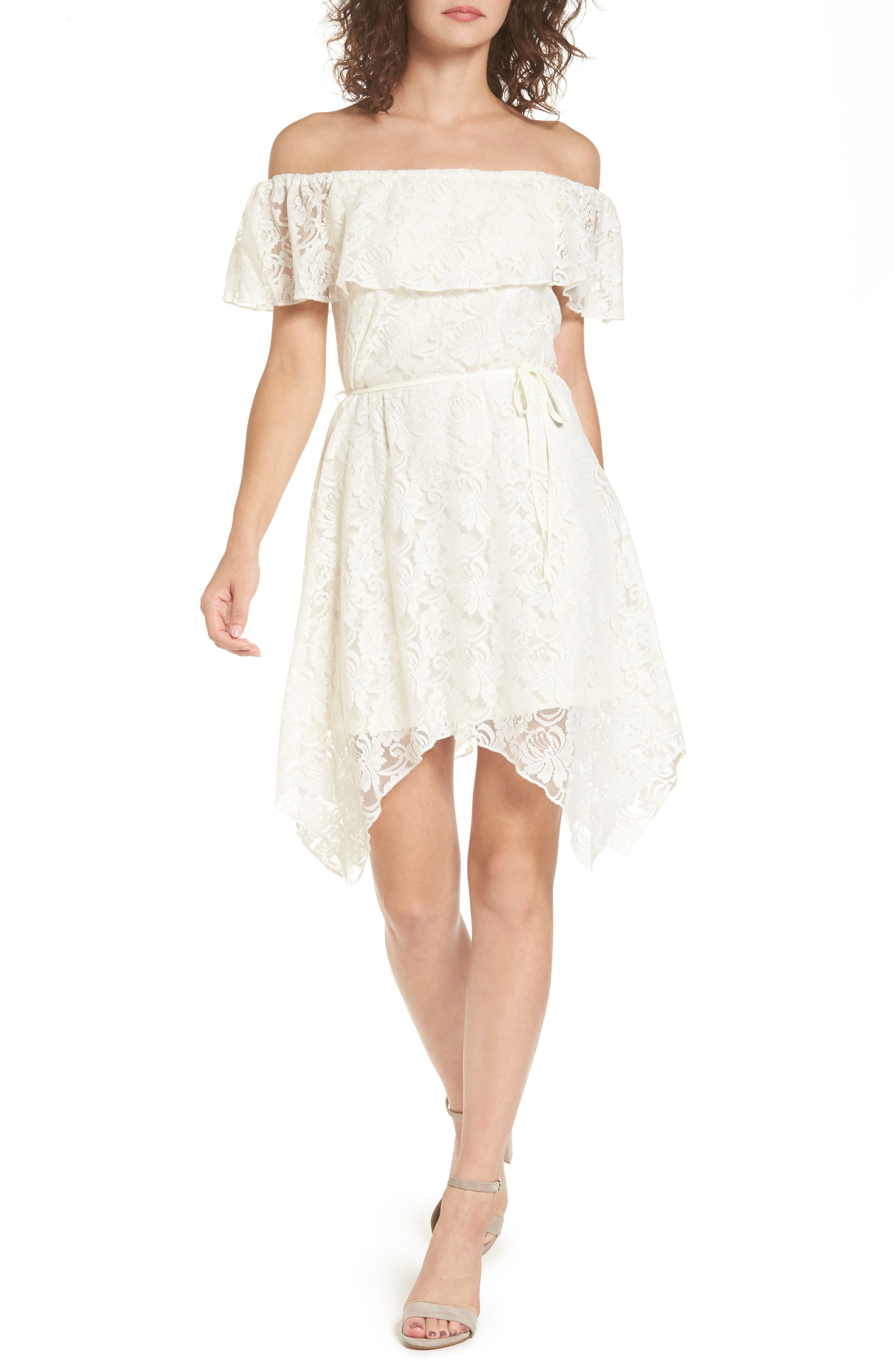 AS U WISH As You WIsh Off the Shoulder Lace Dress
