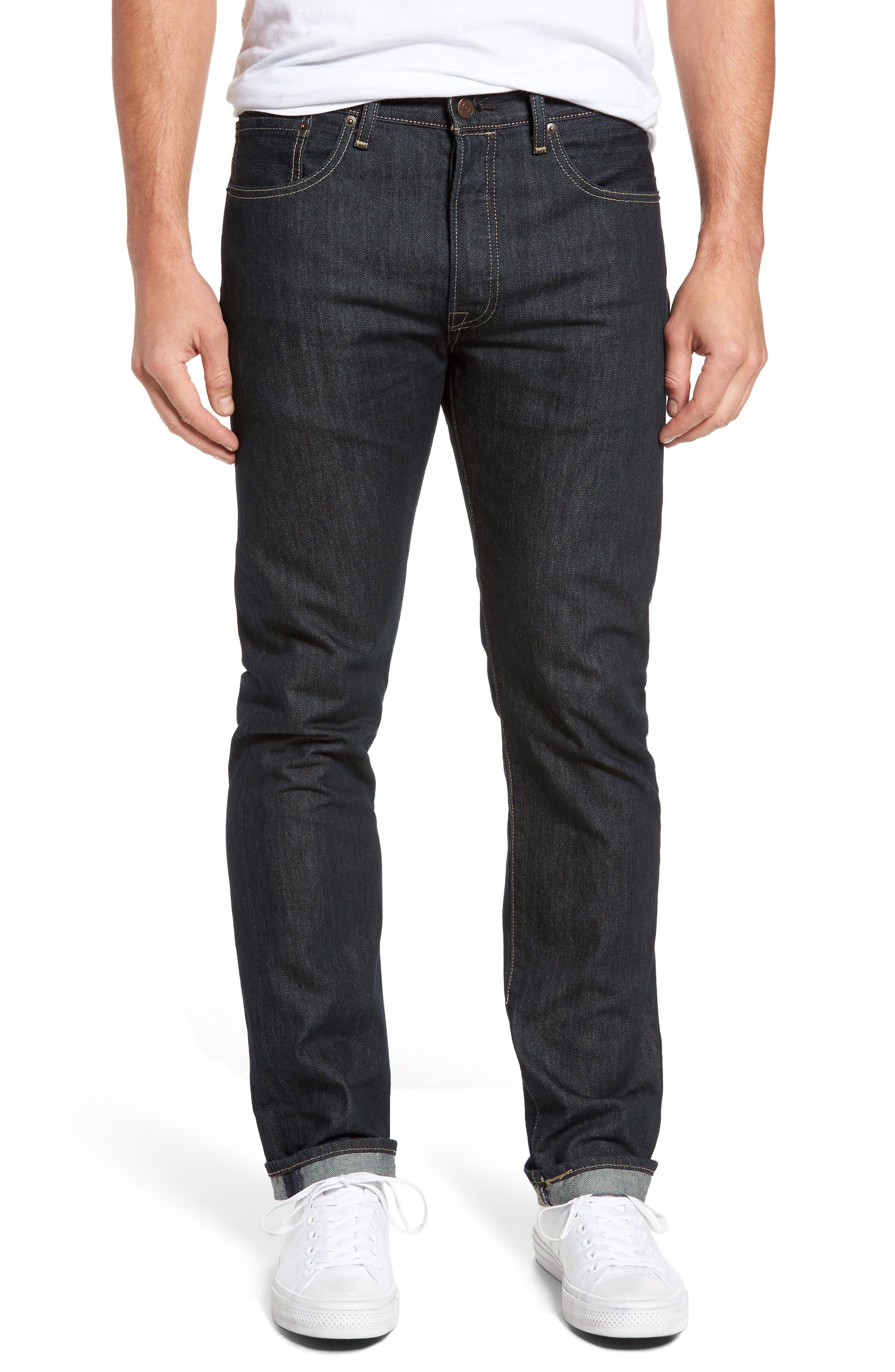 501<sup>®</sup> Original Fit Straight Leg Jeans,                         Main,                         color, Clean Rigid