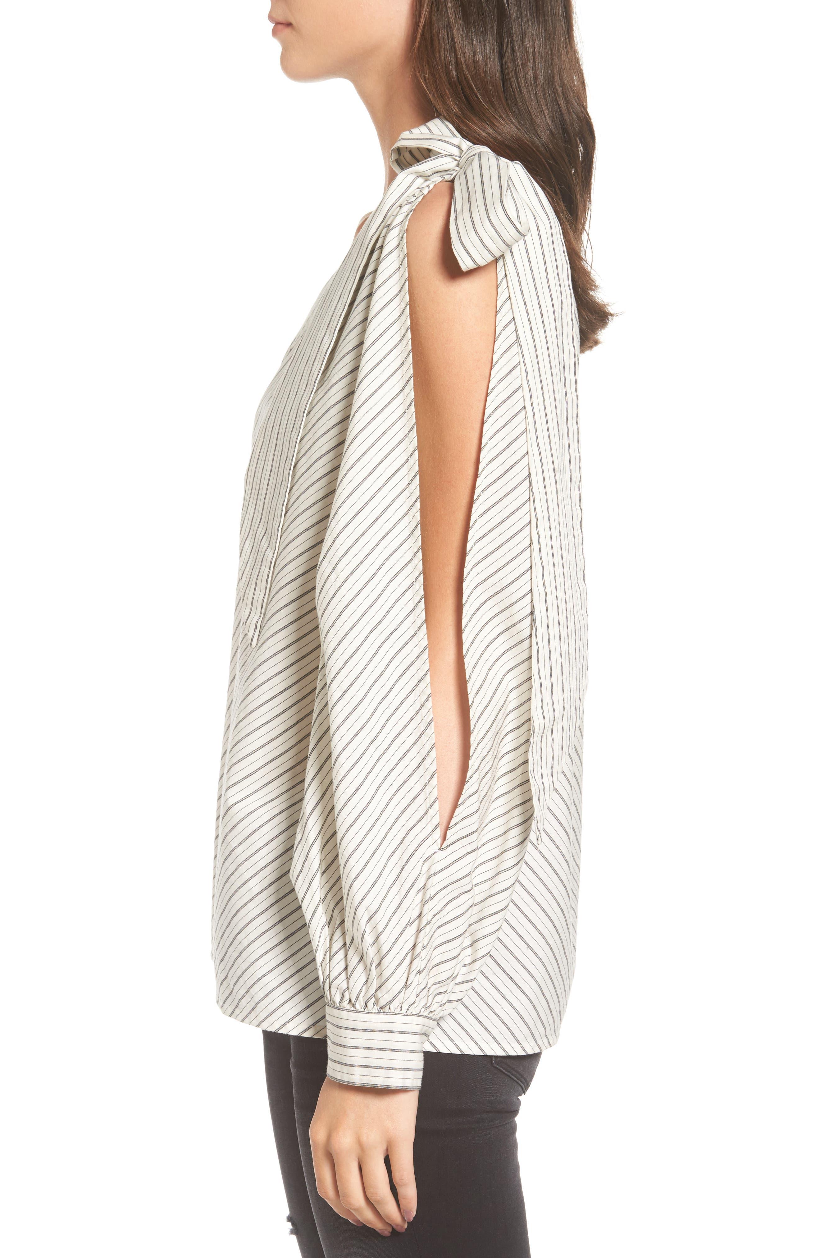Alternate Image 3  - BP. Split Sleeve One-Shoulder Top