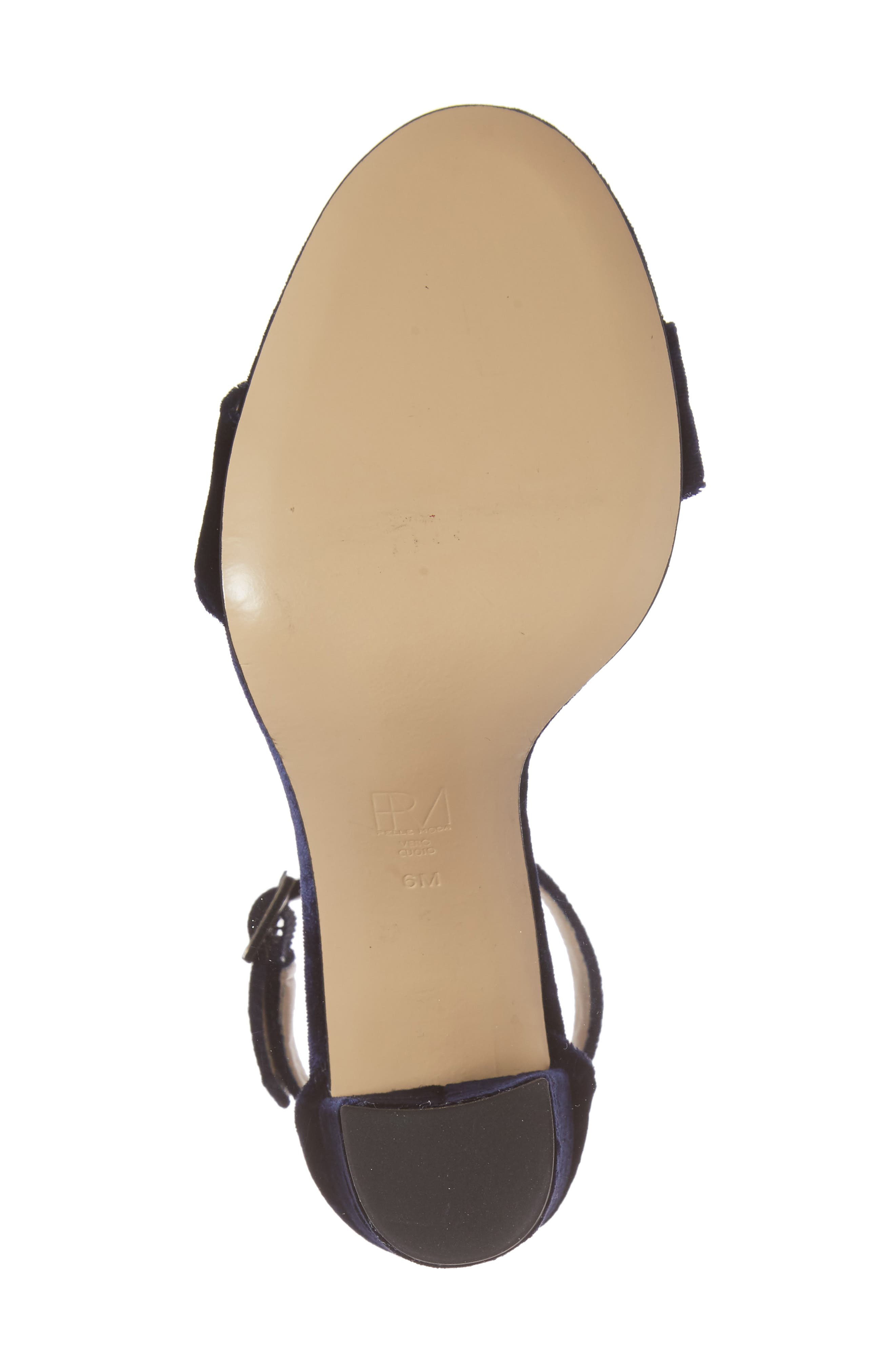 Bonnie Ankle Strap Sandal,                             Alternate thumbnail 6, color,                             Midnight