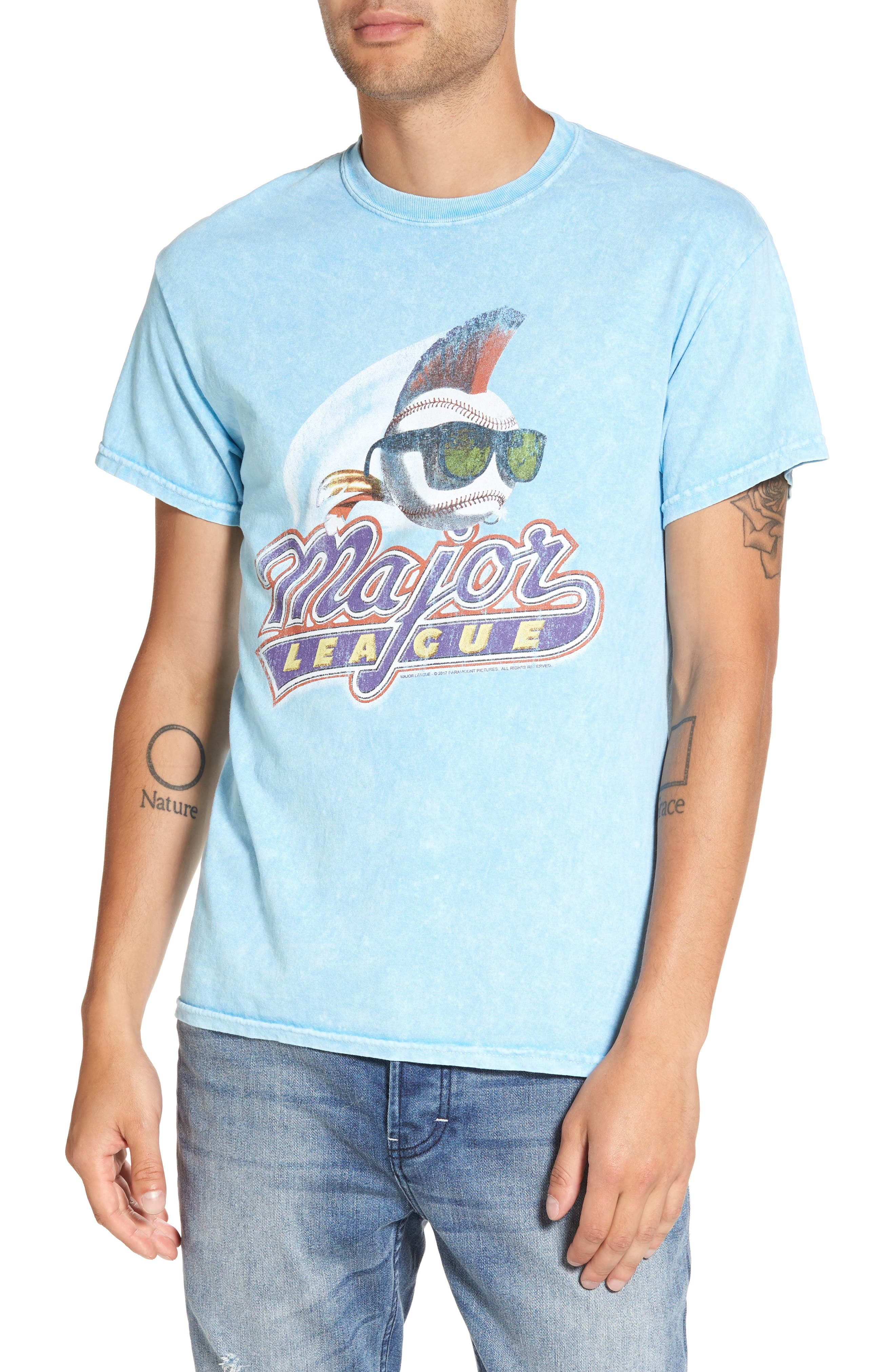 Main Image - The Rail Washed Graphic T-Shirt