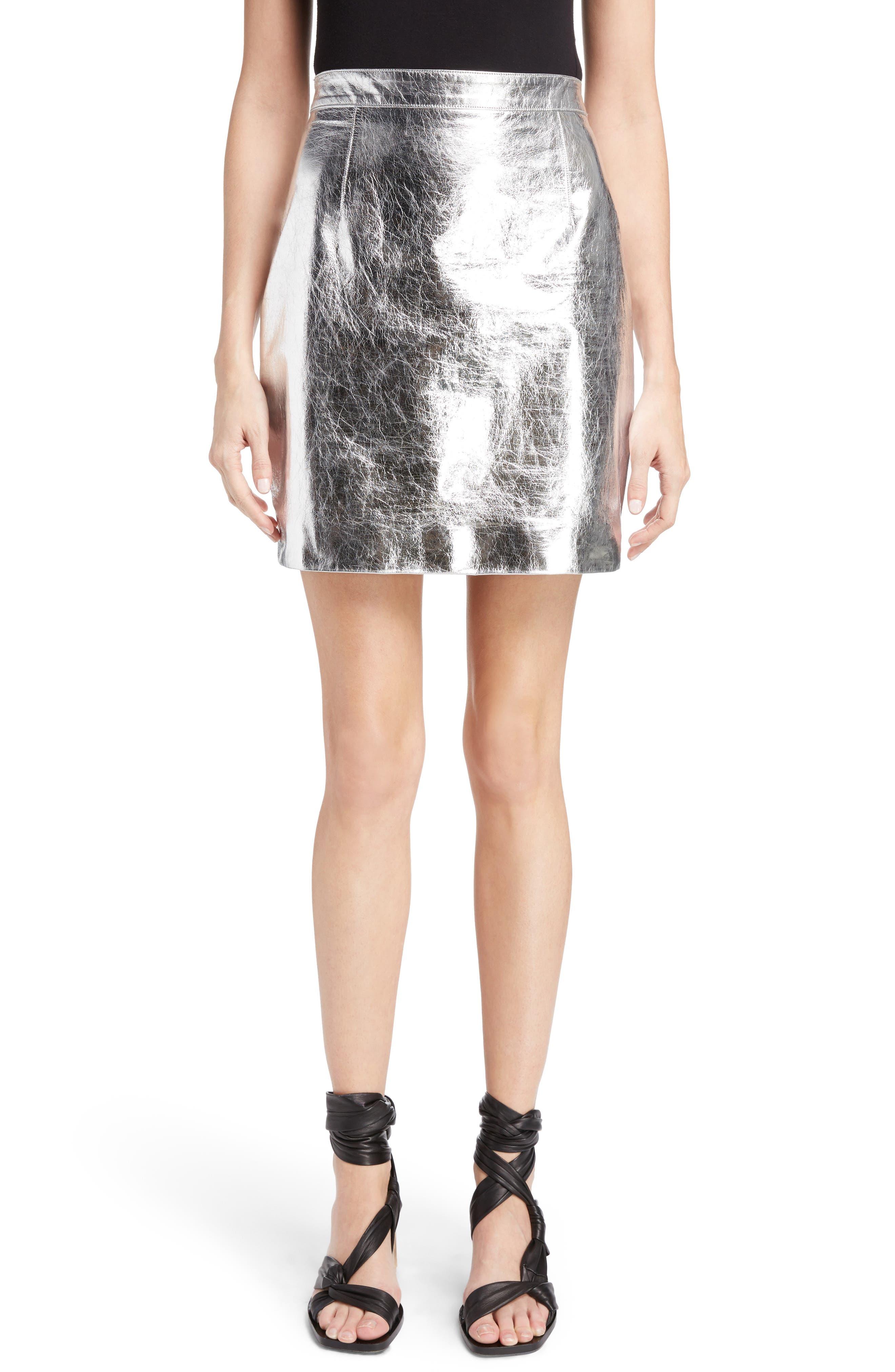 Proenza Schouler Metallic Leather Miniskirt