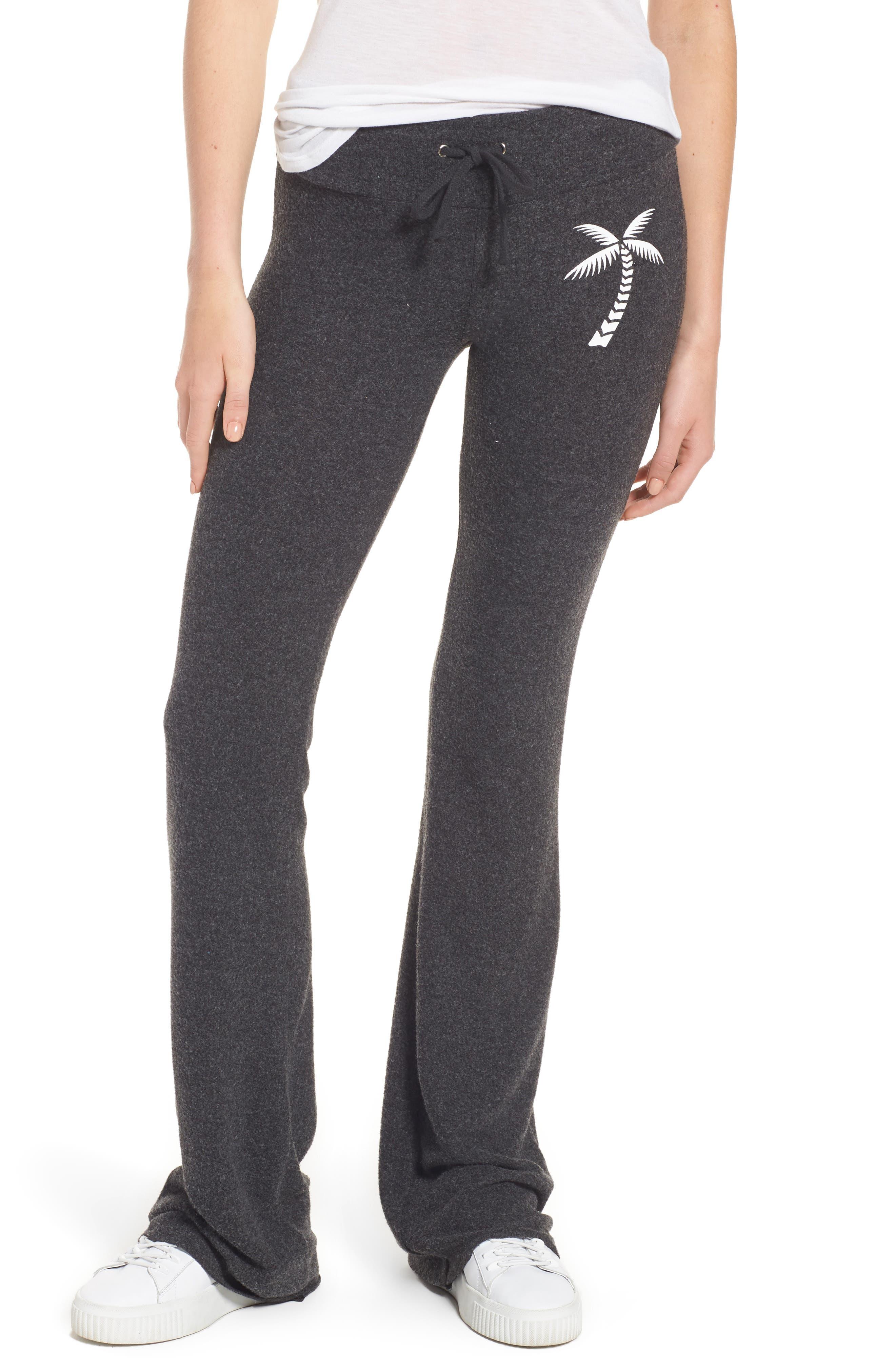 Salty Hair Track Pants,                             Main thumbnail 1, color,                             Black