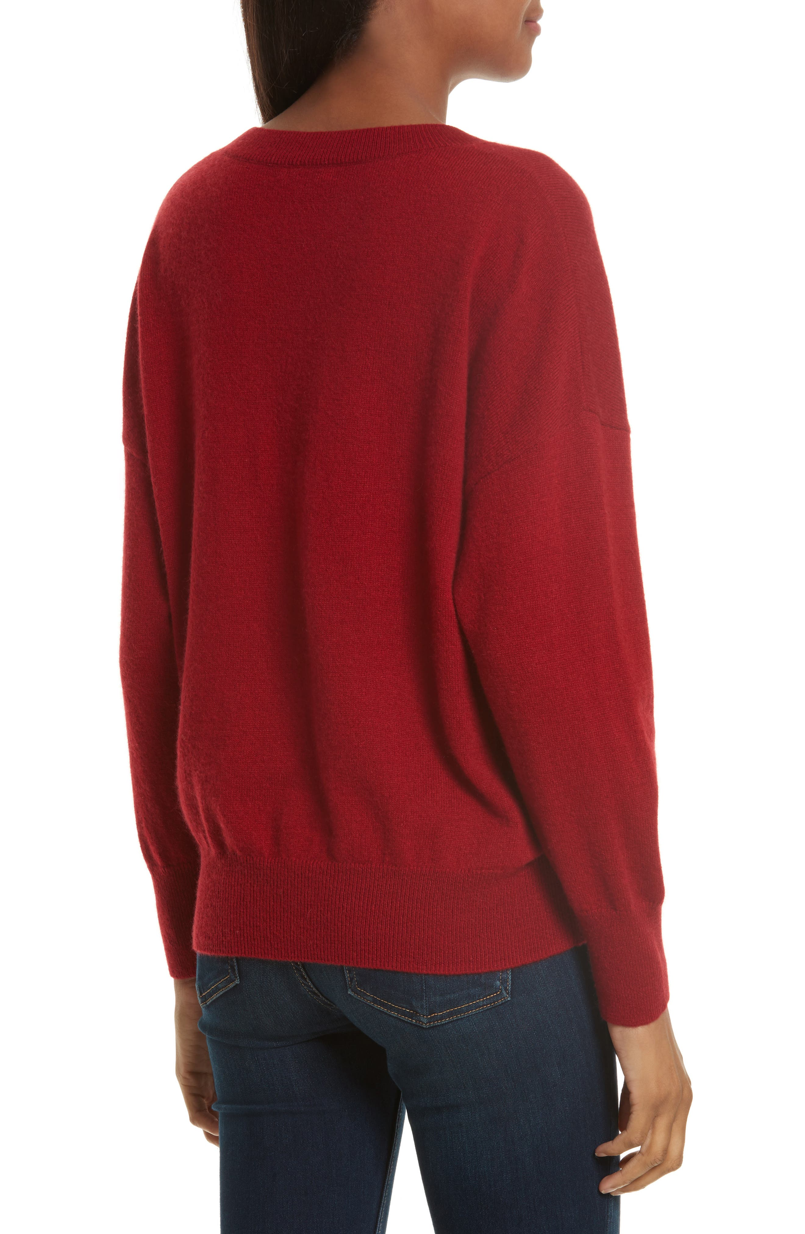 Melanie Cashmere Sweater,                             Alternate thumbnail 2, color,                             Rhubarb