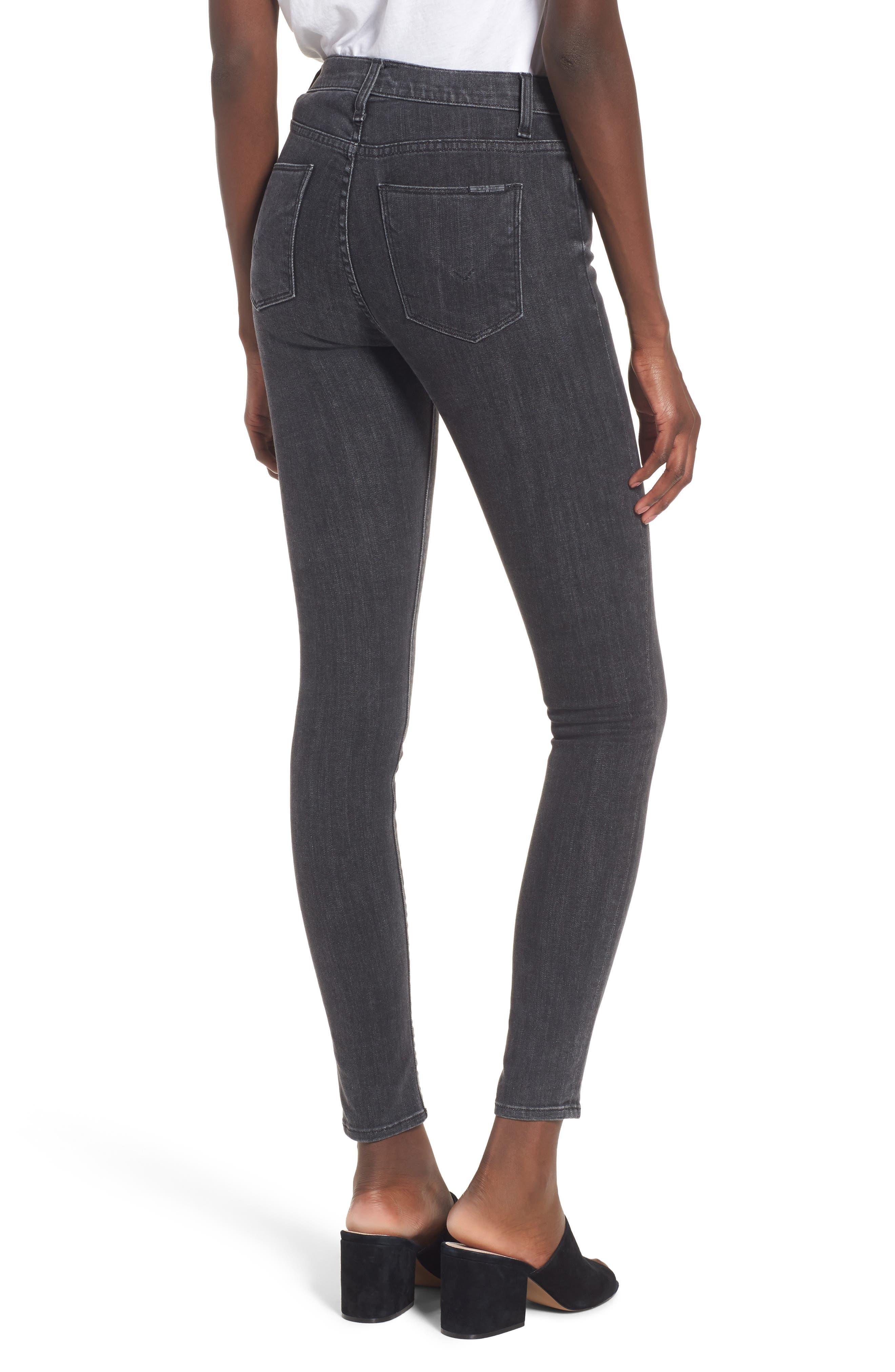 Hudson Barbara High Waist Super Skinny Jeans,                             Alternate thumbnail 2, color,                             Disarm