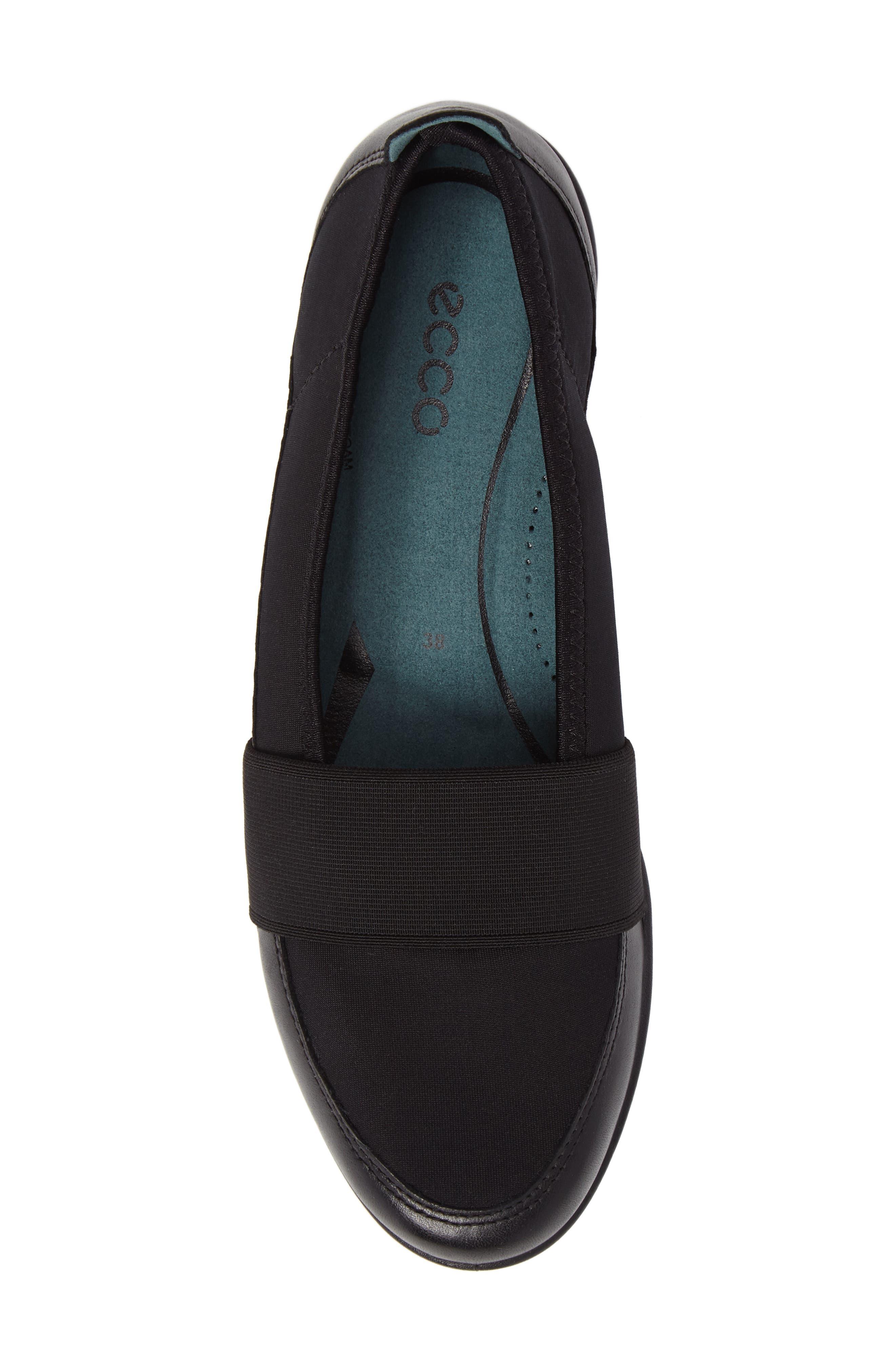 'Bluma' Slip-On Sneaker,                             Alternate thumbnail 5, color,                             Black Leather