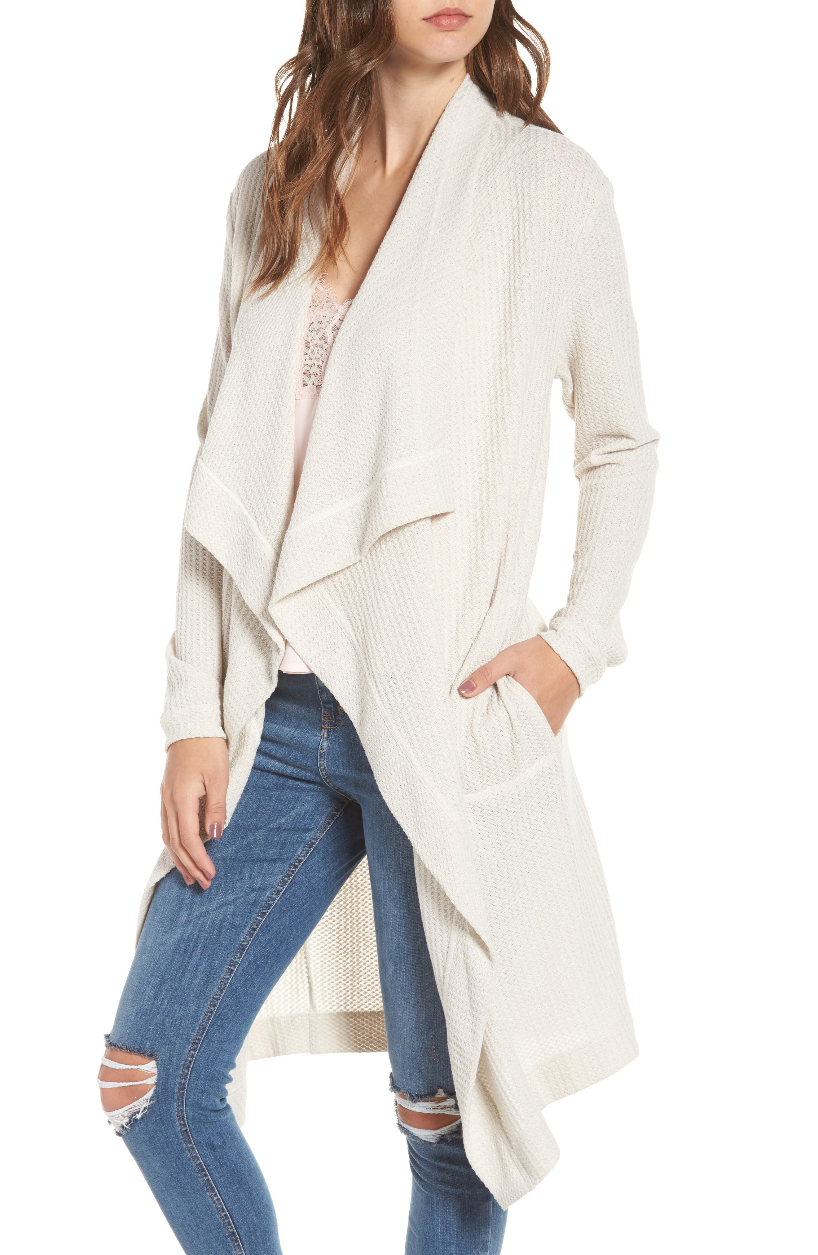 Alternate Image 1 Selected - 4SI3NNA Open Front Cardigan