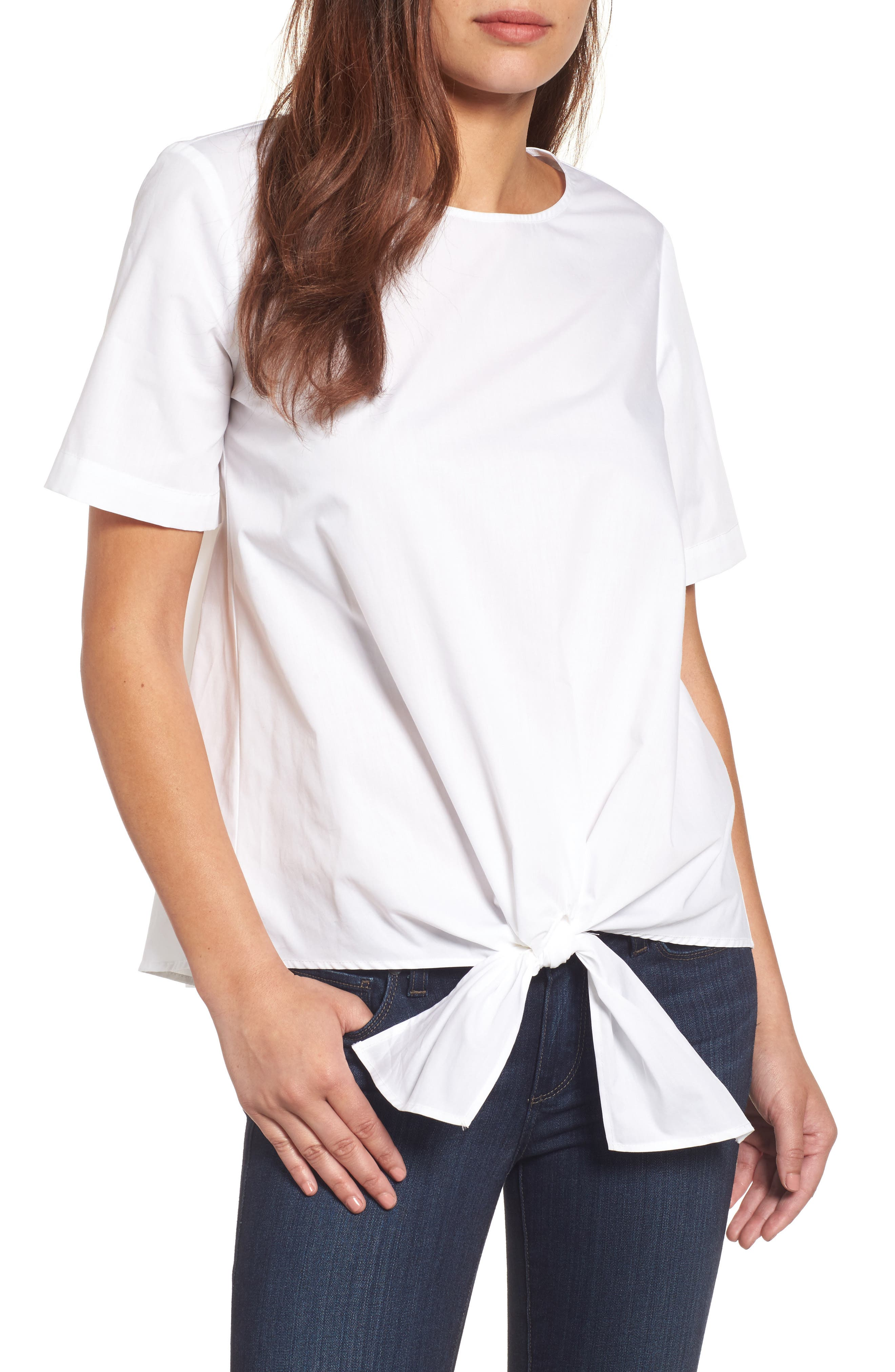 Gibson Cotton Tie Front Top